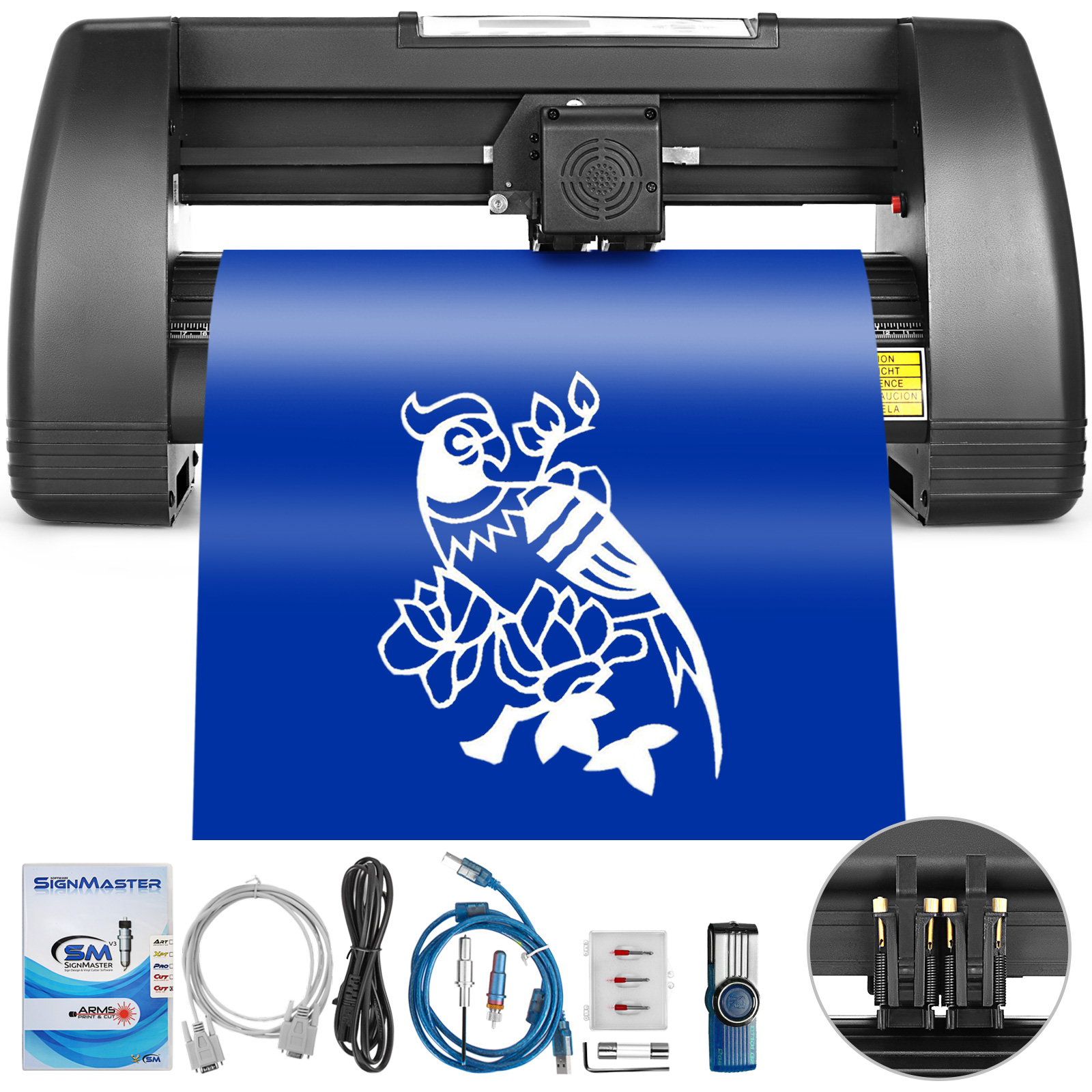 Vinyl Cutter Plotter Cutting 14//28//34//53 inch W//Table Business Signmaster