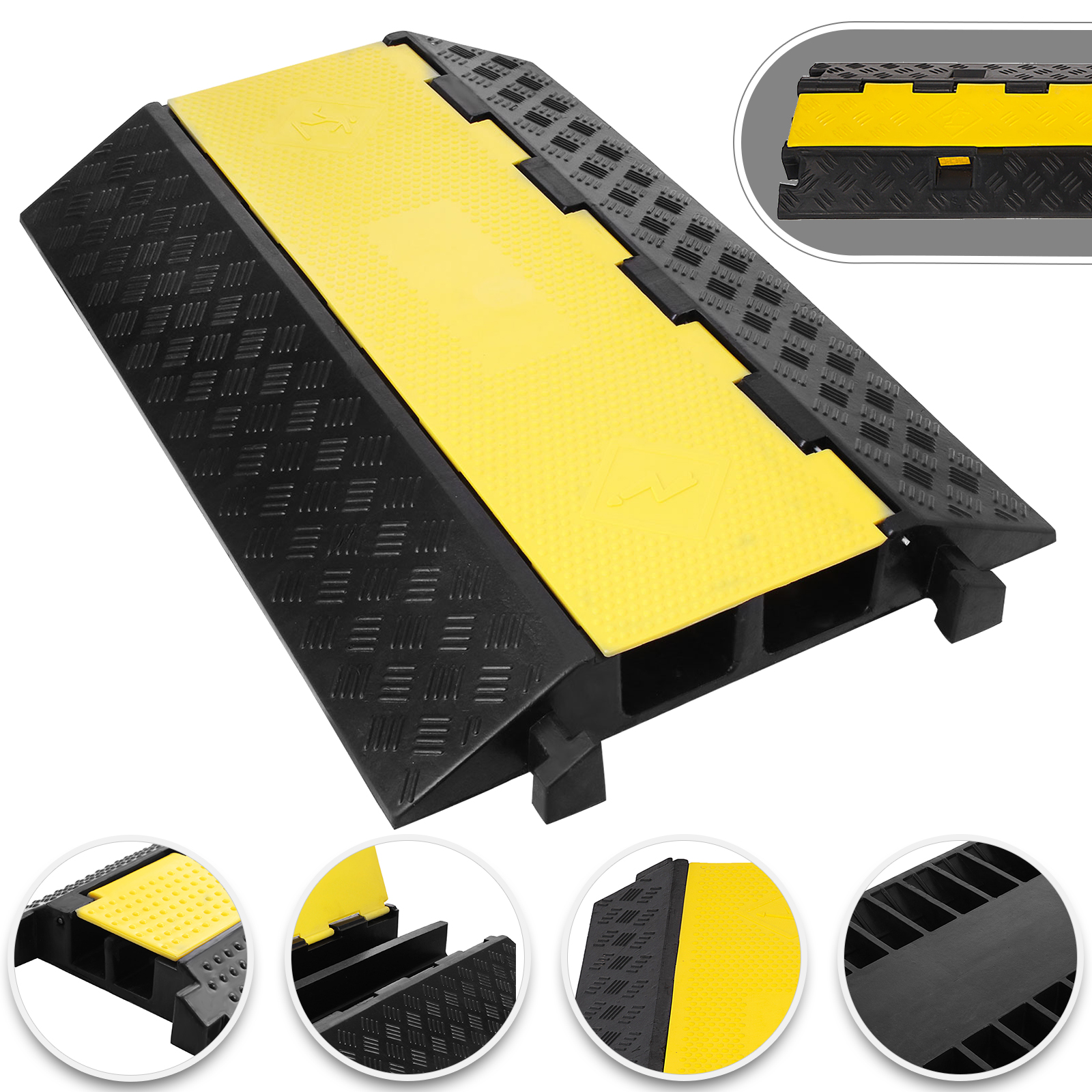 1/2/5 Channel Cable Cord Protector Electrical Wire Cover Ramp PVC ...