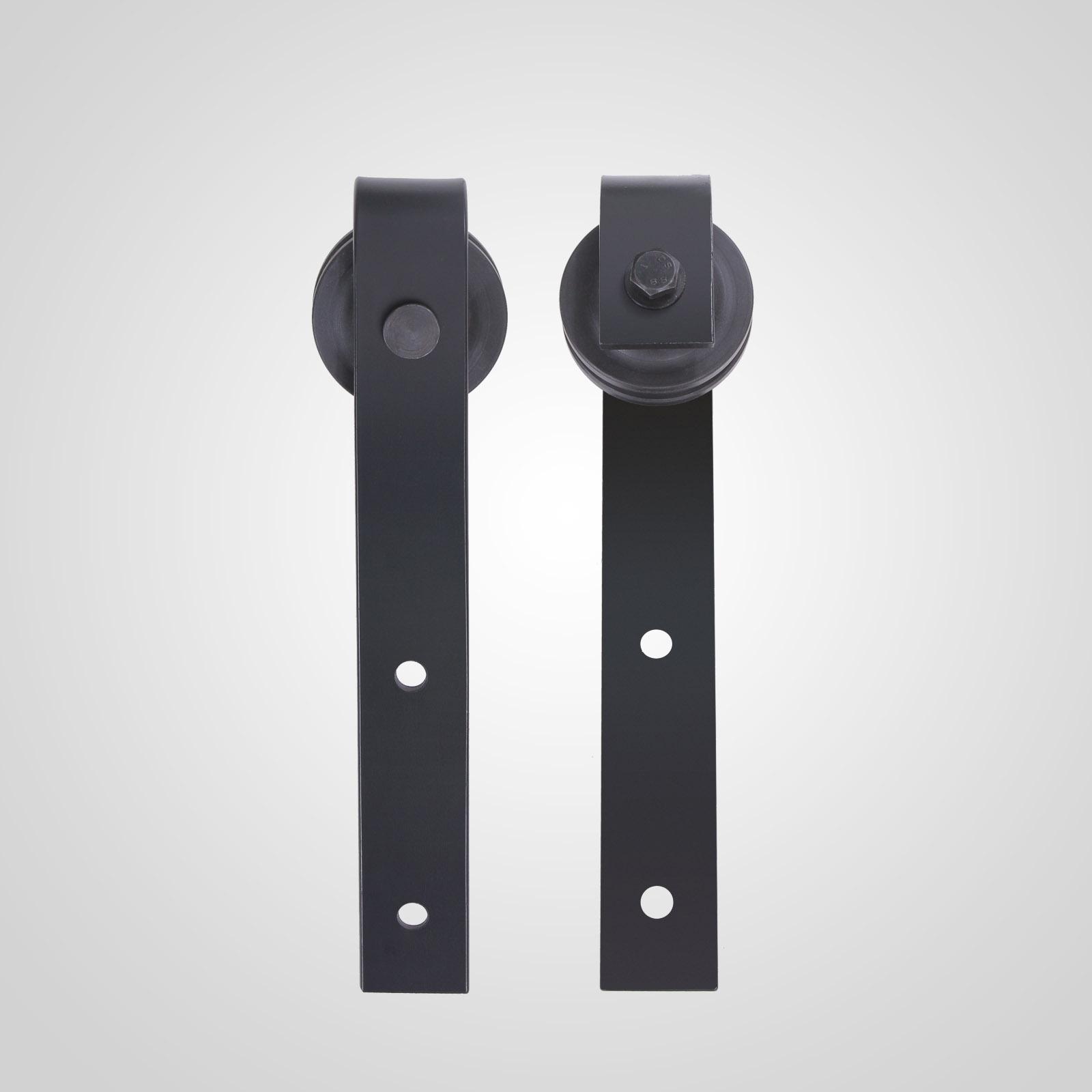 12ft Double Sliding Barn Wood Door Gear Kit Door Track