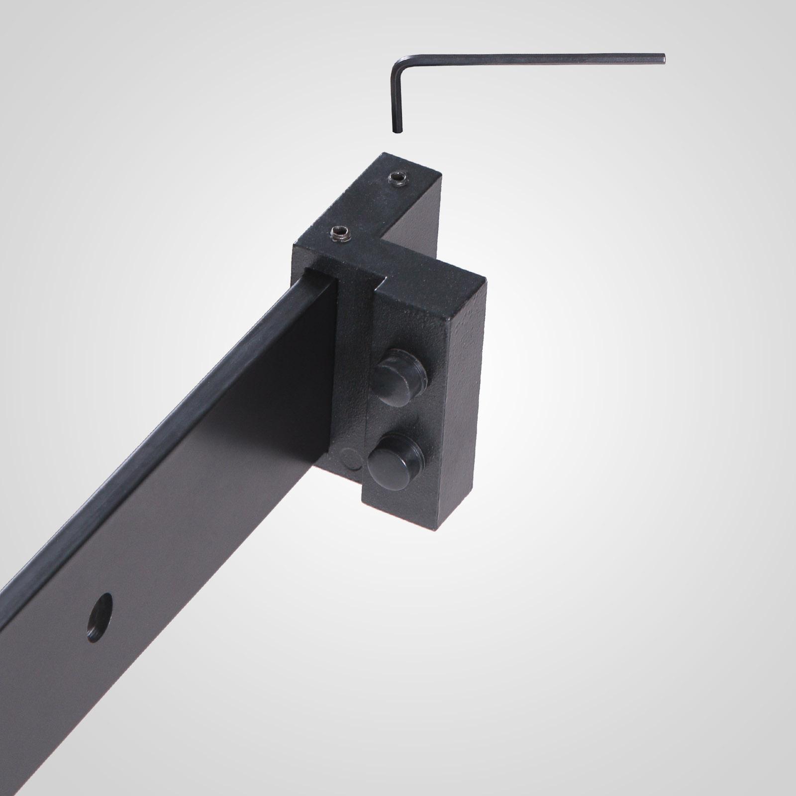 Wall mount sliding door hardware in white - Black Carbon Steel Sliding Barn Door Hardware Track