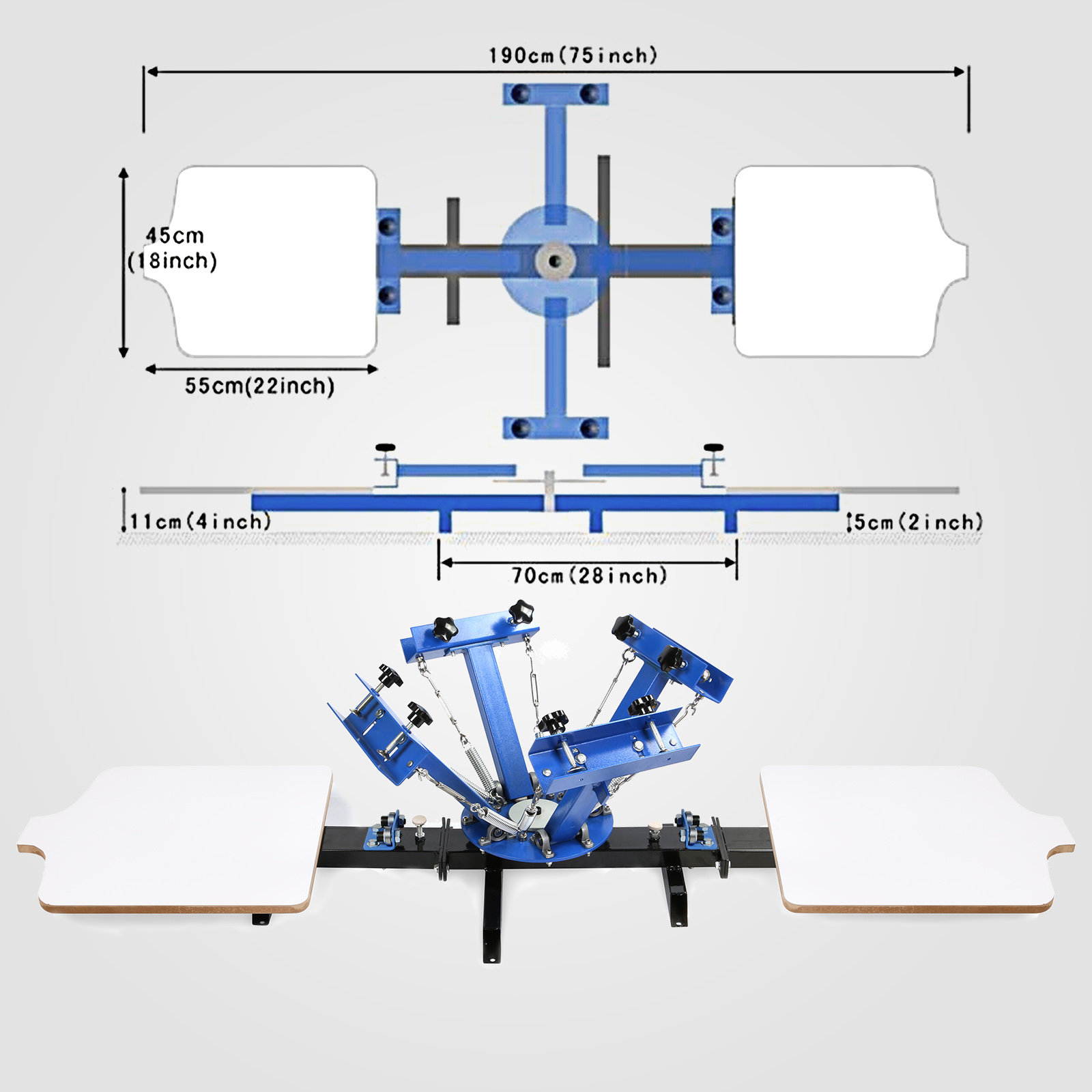 plastic bag screen printing machine
