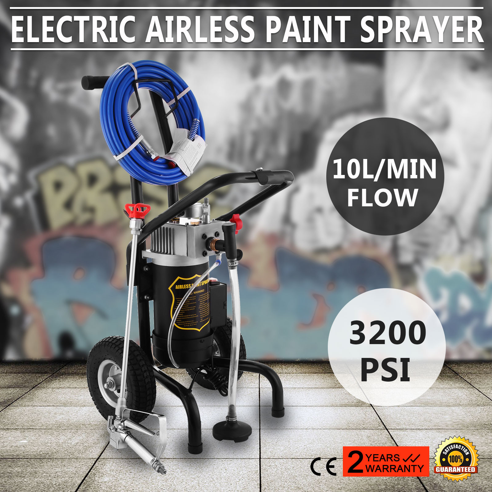 parking lot paint striping machine