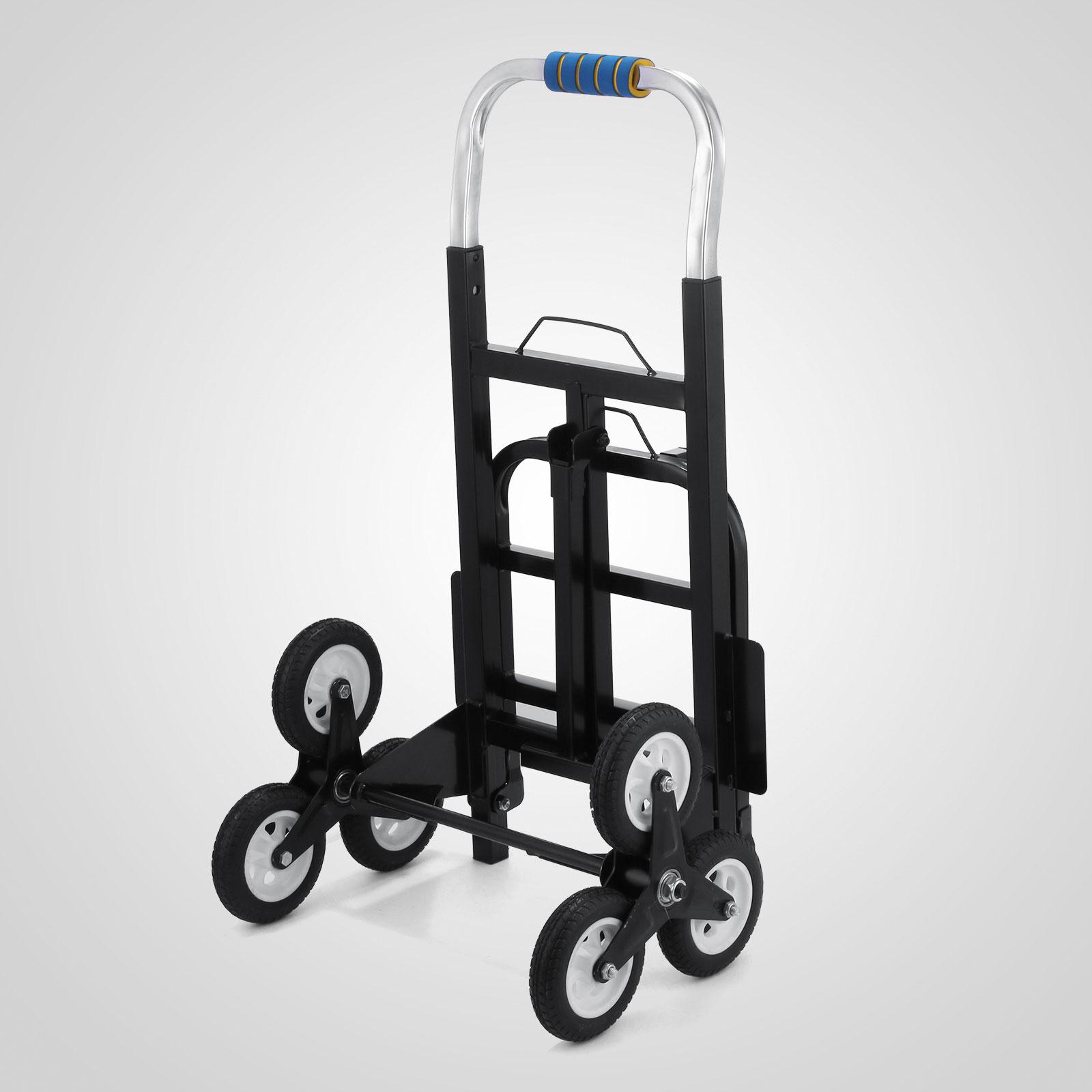 Portable Step Stair Climb Climbing Folding Cart All-Terrain 6 Wheels ...