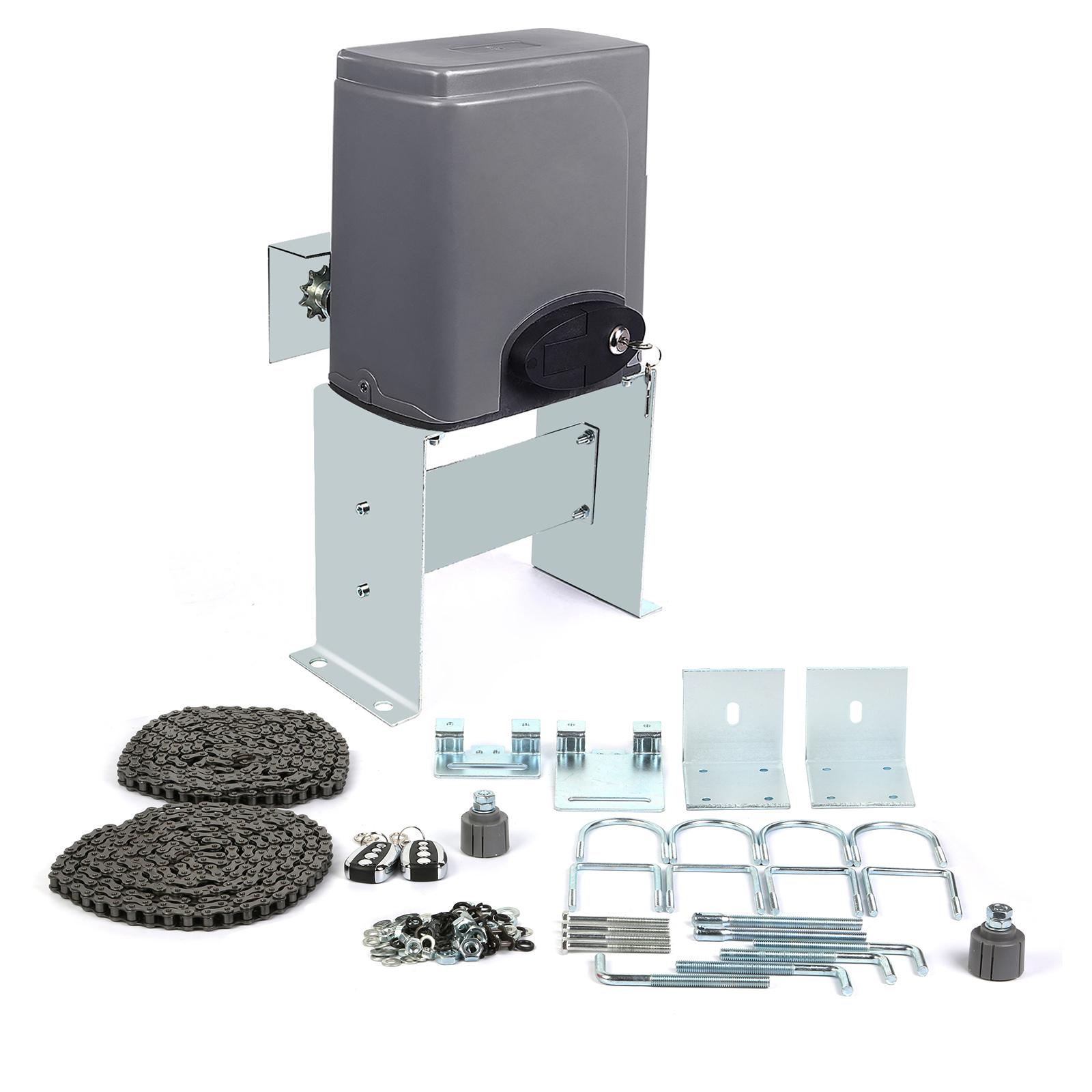 600kg electric sliding automatic gate opener kit with for Sliding gate motor kit