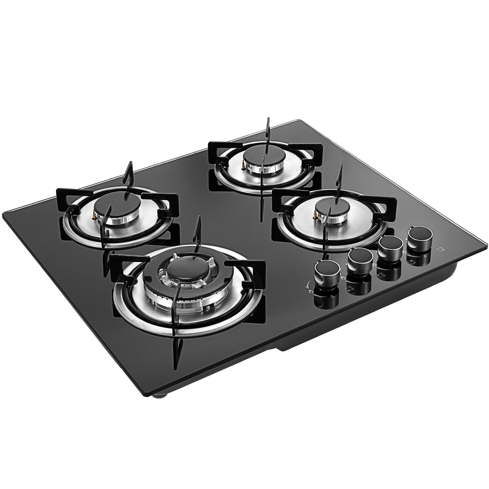 Tempered-Glass-4-Burners-Stove-Gas-Cooktop-iron-grates-LPG-amp-LNG-Gas-St-Steel thumbnail 10