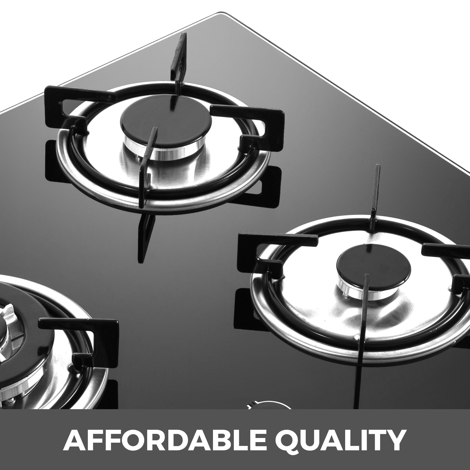 Tempered-Glass-4-Burners-Stove-Gas-Cooktop-iron-grates-LPG-amp-LNG-Gas-St-Steel thumbnail 3