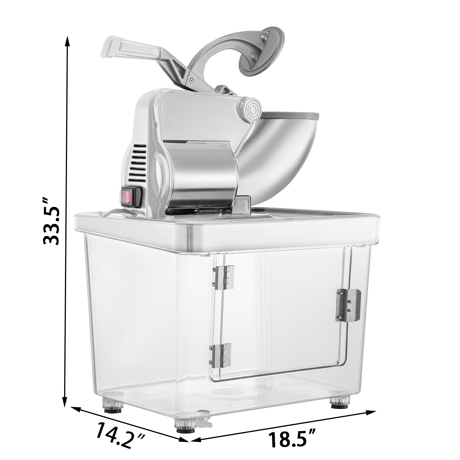 Snow Cone Maker Round Ice Shaver Stainless Steel for Home Kitchen