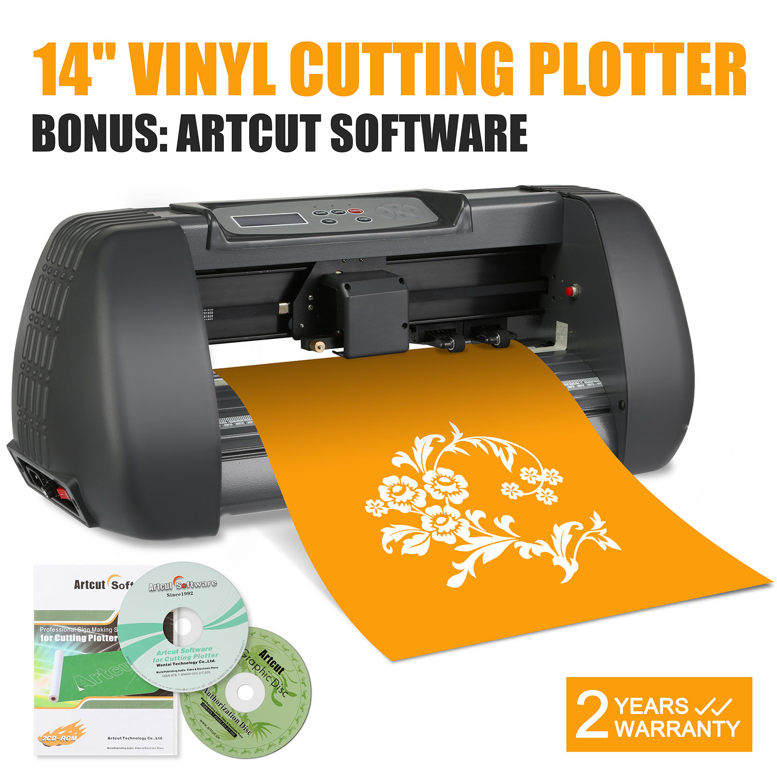 new 14 vinyl cutting plotter printer desktop cutter artcut machine software ebay. Black Bedroom Furniture Sets. Home Design Ideas