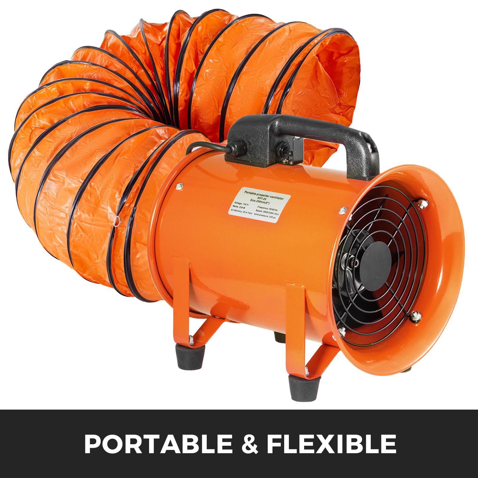 Tubo-Condotto-3m-356mm-Aria-Riscaldamento-Di-Aspirazione-Flessibile-2-Ganci miniatura 3