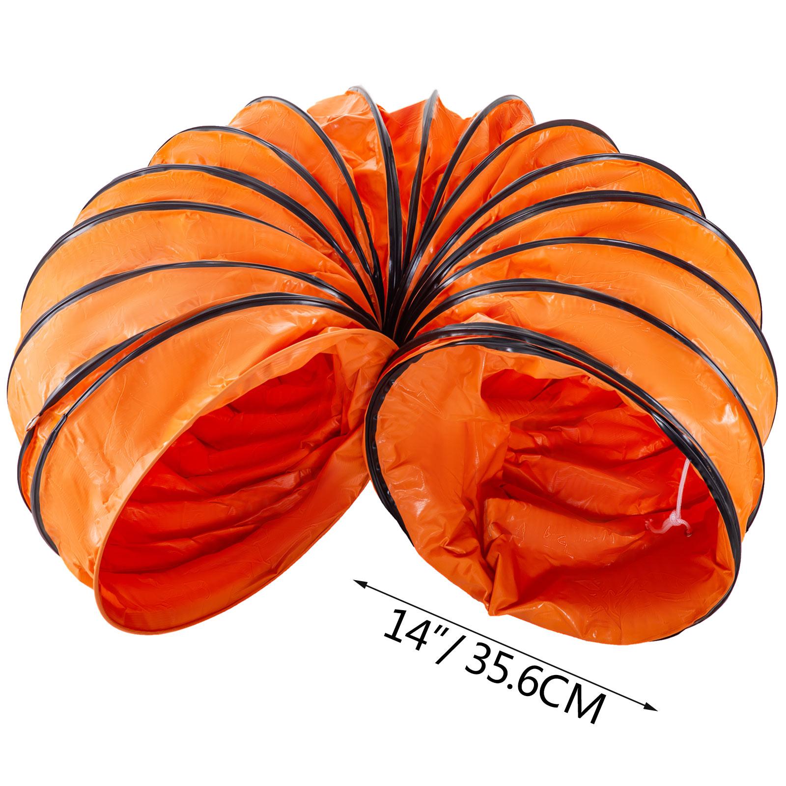 Tubo-Condotto-3m-356mm-Aria-Riscaldamento-Di-Aspirazione-Flessibile-2-Ganci miniatura 8