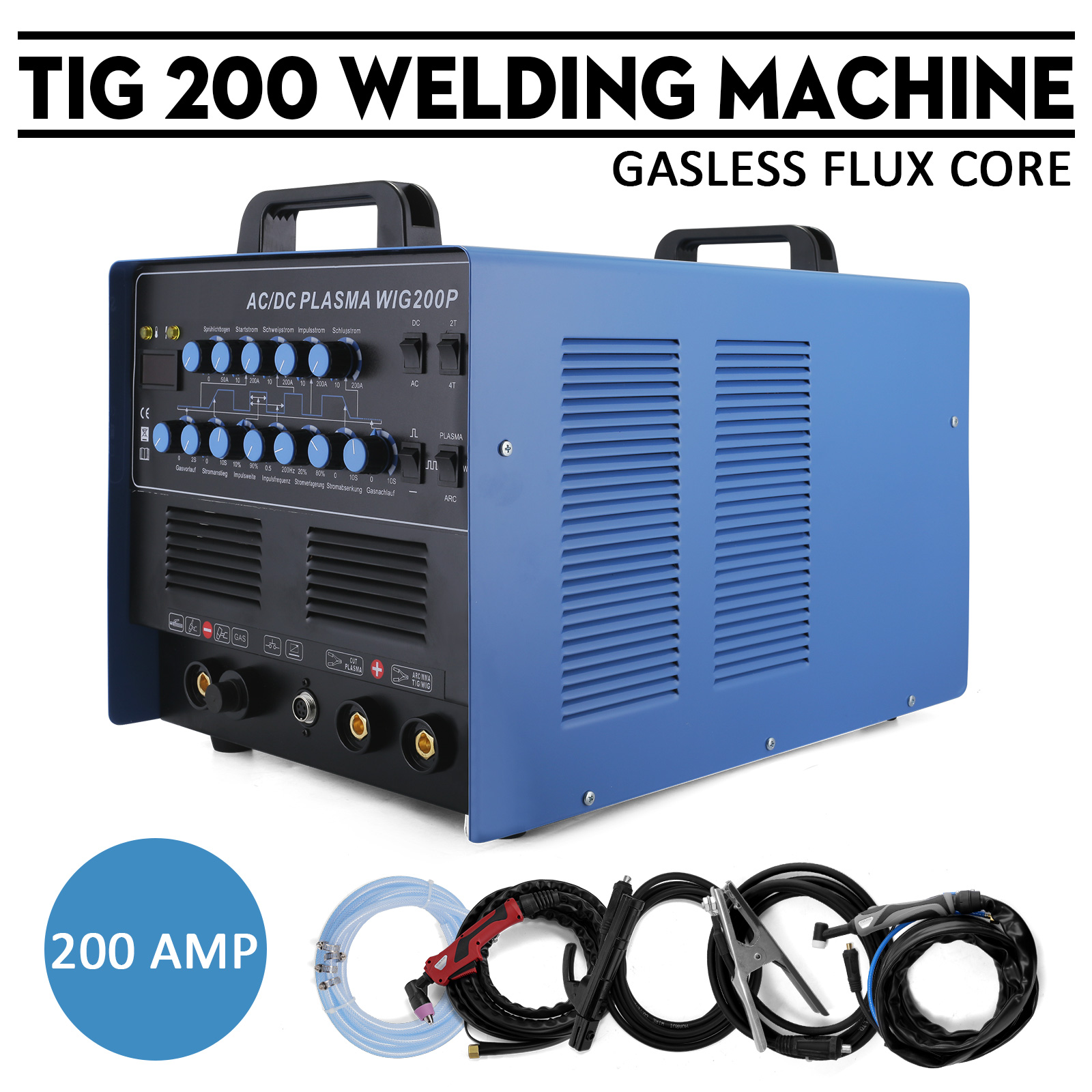 WELDER AC DC Tig 200 amp Welding Weld Kits Device Machine Pulse ...