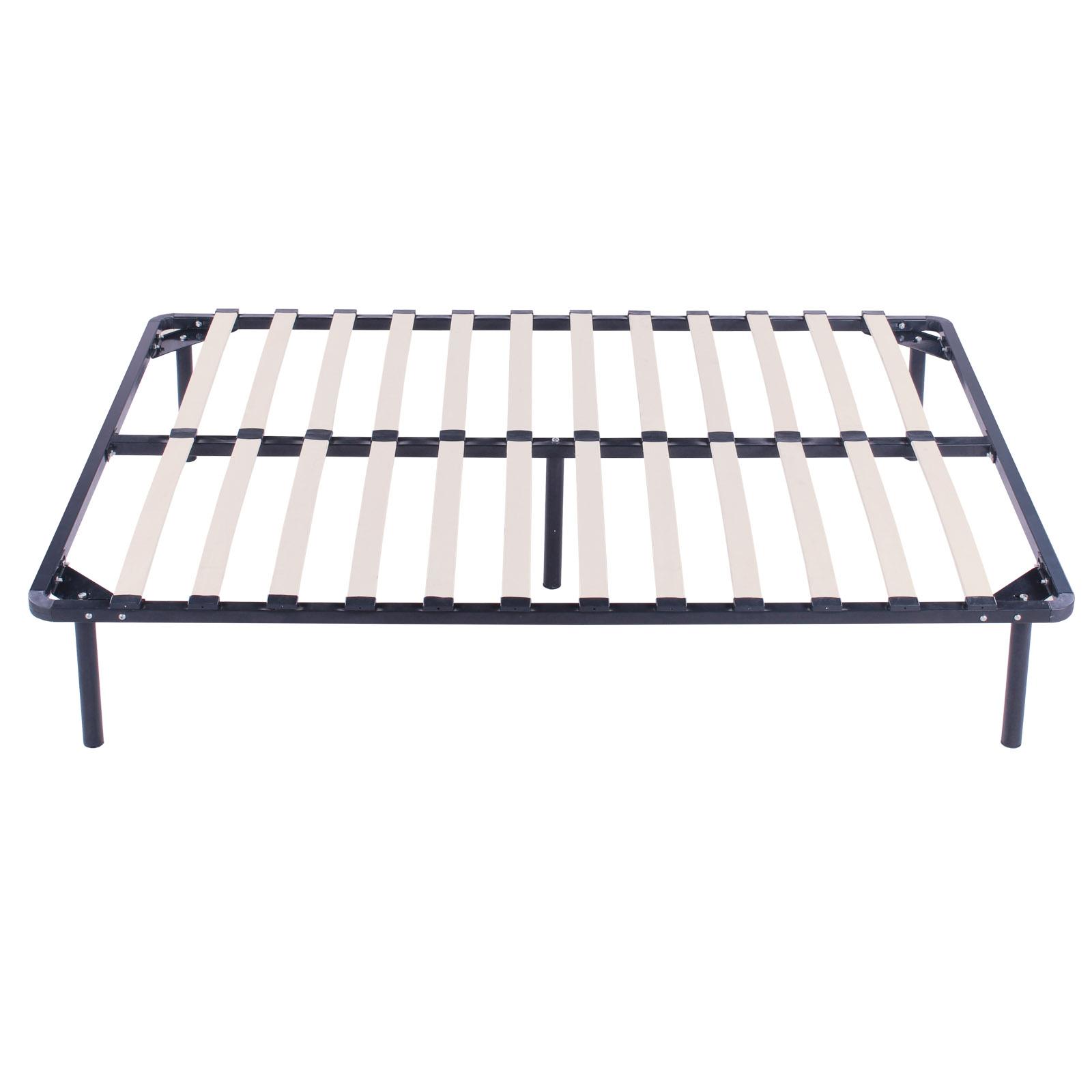 twin size wood slats metal bed frame platform bedroom. Black Bedroom Furniture Sets. Home Design Ideas