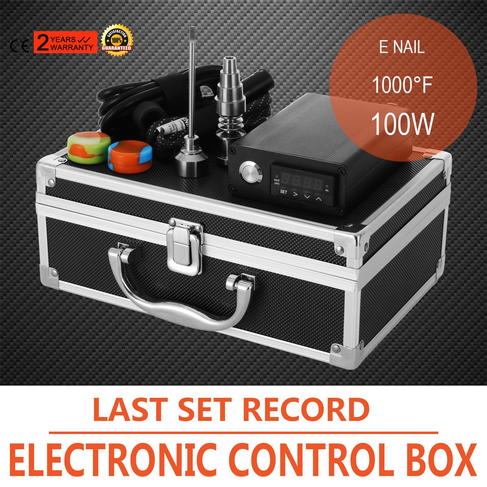 Enail Titanium E nail Electronic Control Box E nail   More Dab Set  #B93712