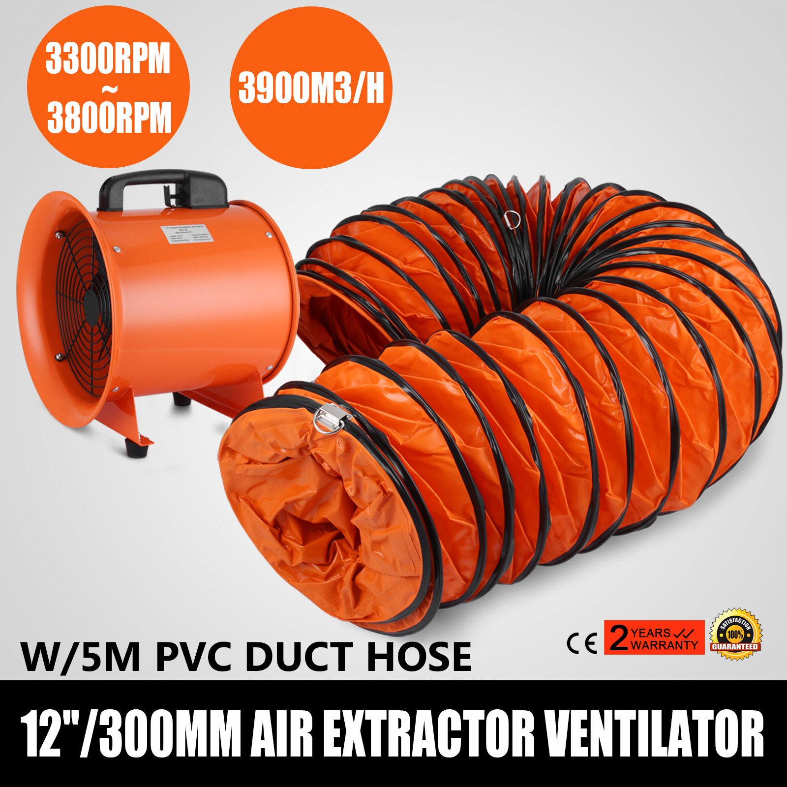 12 Quot Industrial Extractor Fan Blower W Duct Hose Low Noise