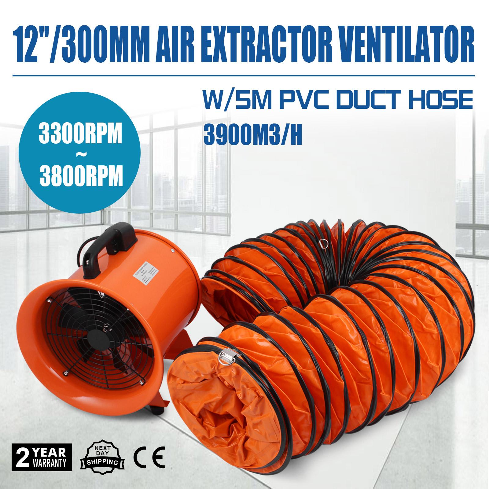 Blower Fan With Hose : Quot industrial extractor fan blower w duct hose low noise