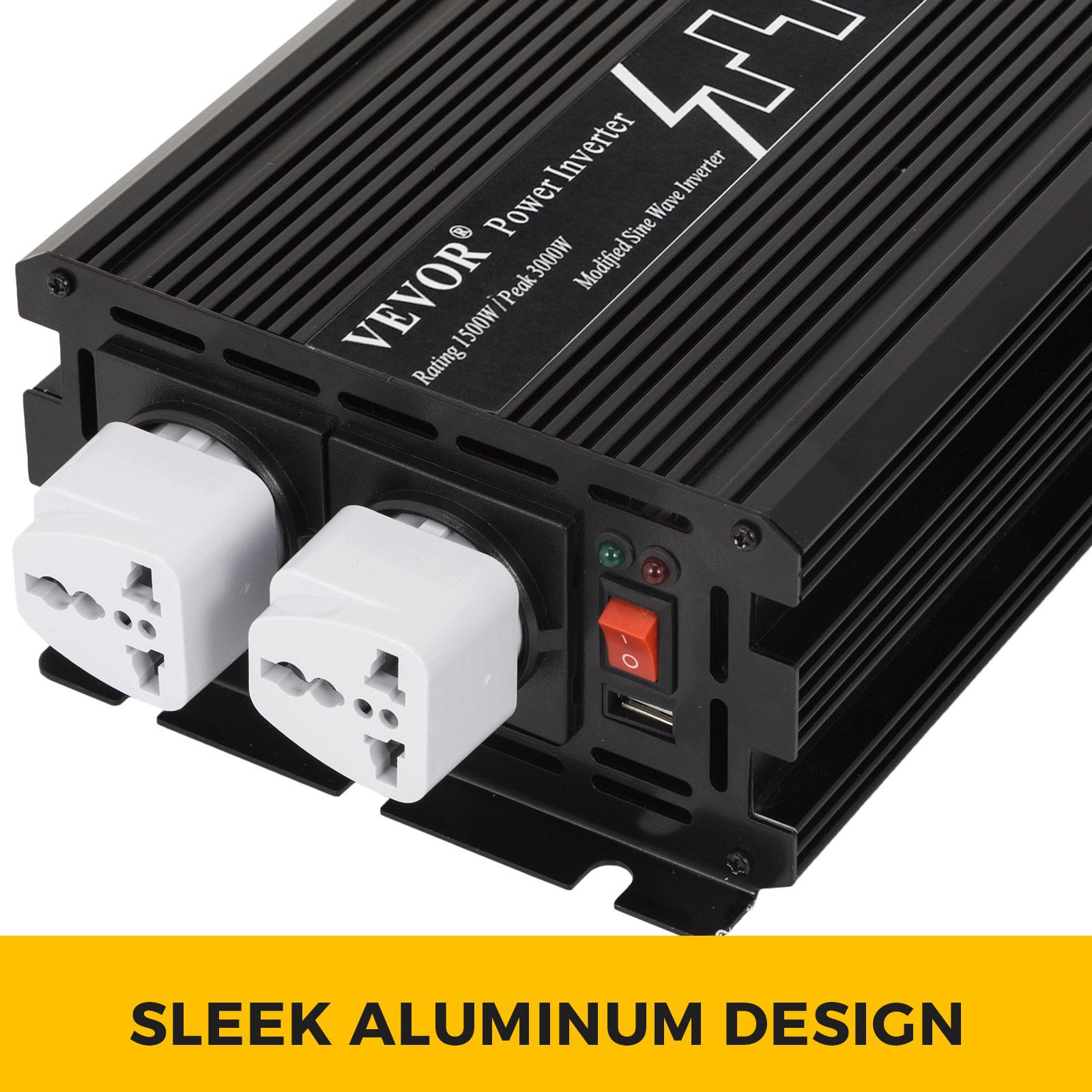 2000W//3000W//4000W//6000W Onduleur à Onde Sinusoïdale Modifiée Télécommande USB