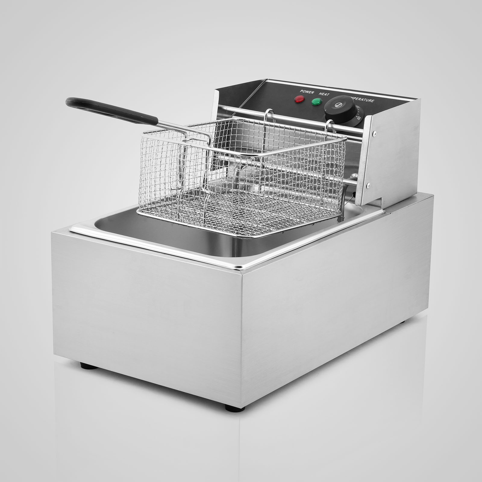 Electric Deep Fryer : L electric deep fat fryer stainless steel commercial