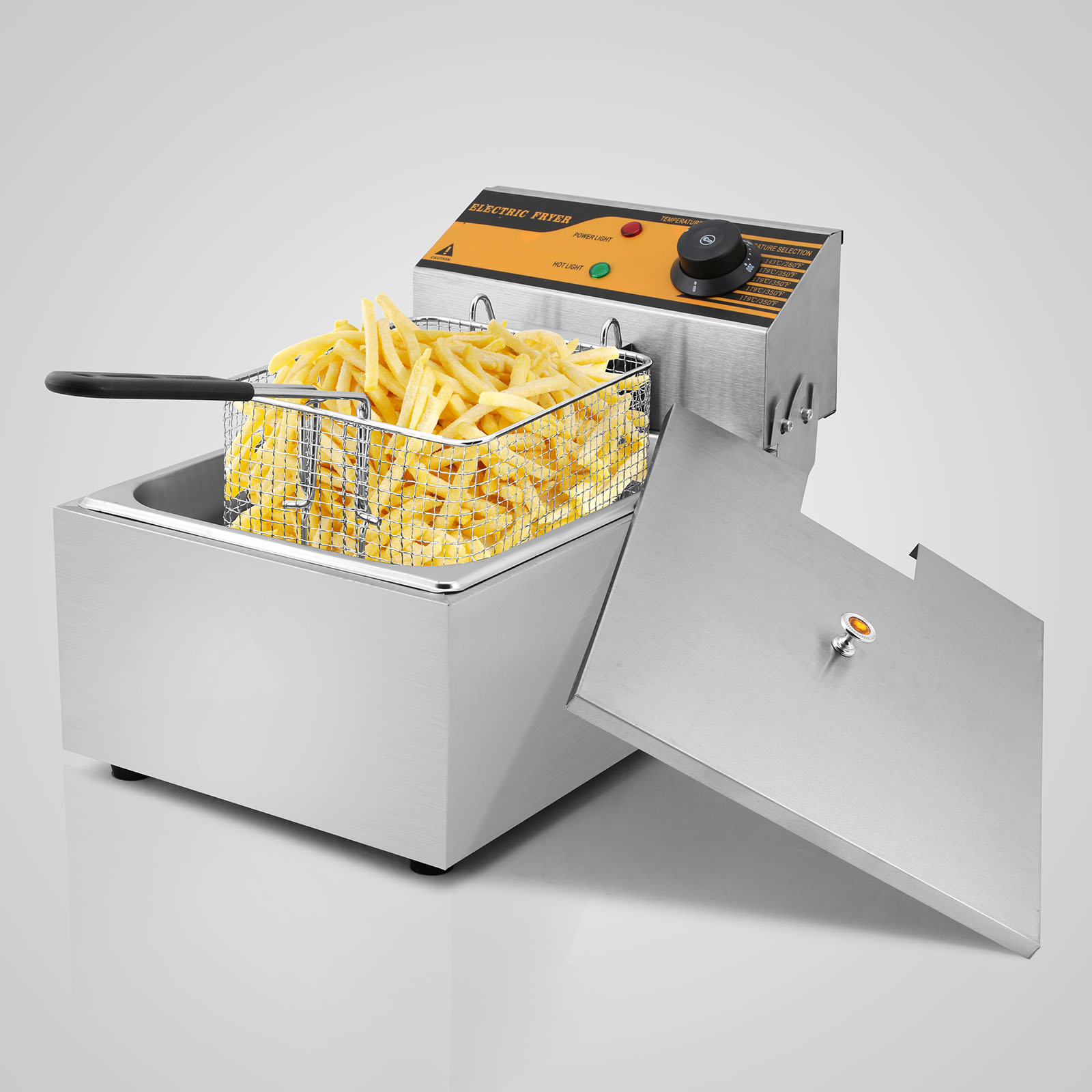 Electric Deep Fryer : Vevor l electric deep fat fryer stainless steel