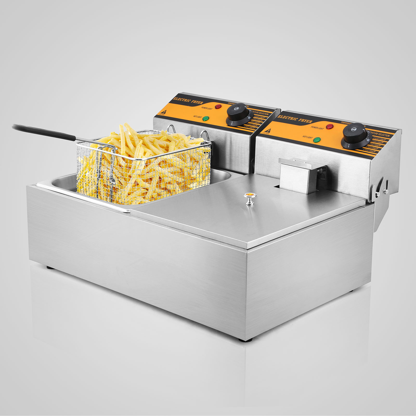 Electric Deep Fryer : New w stainless steel commercial l twin electric