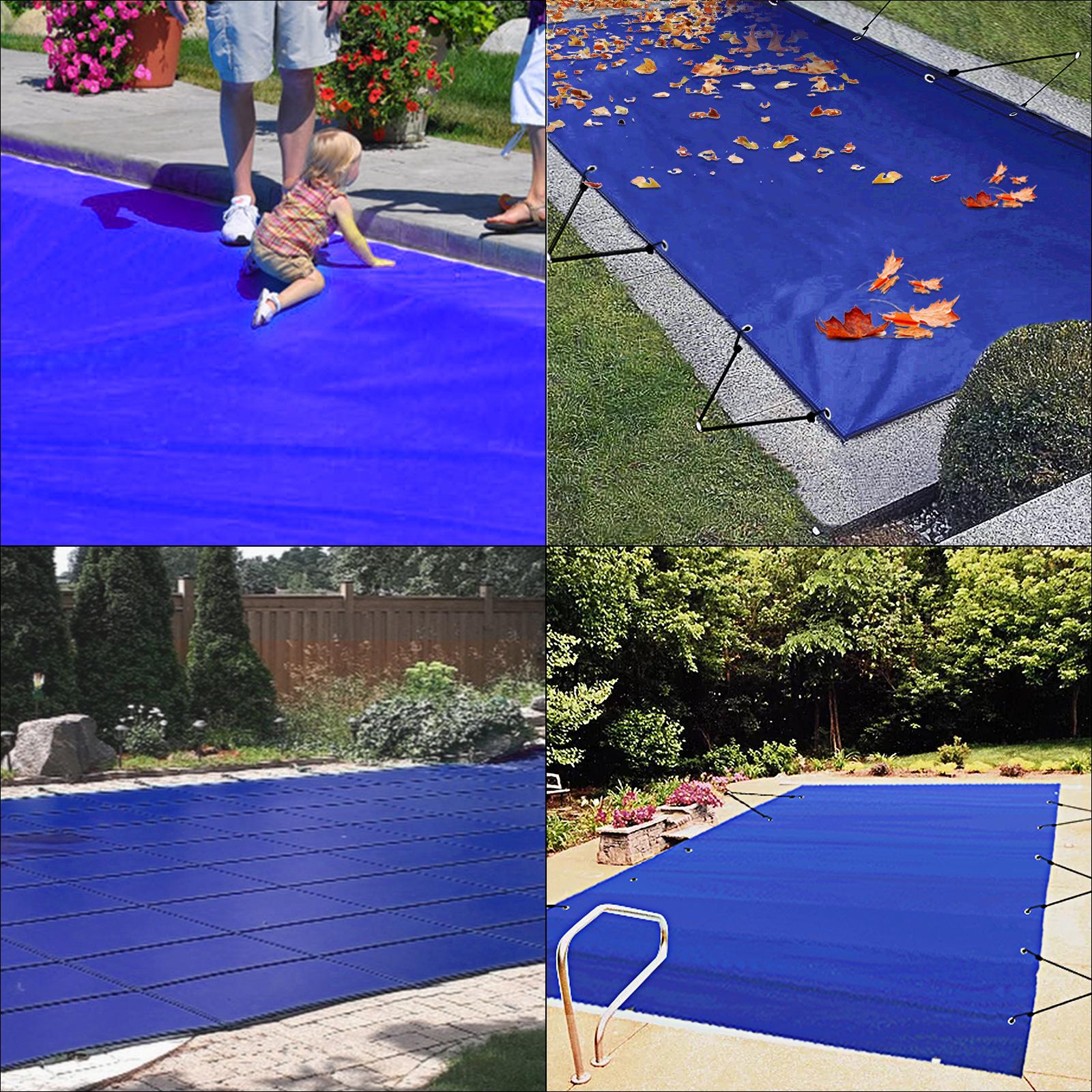 vevor bâche piscine hivernage couverture rectangulaire 35