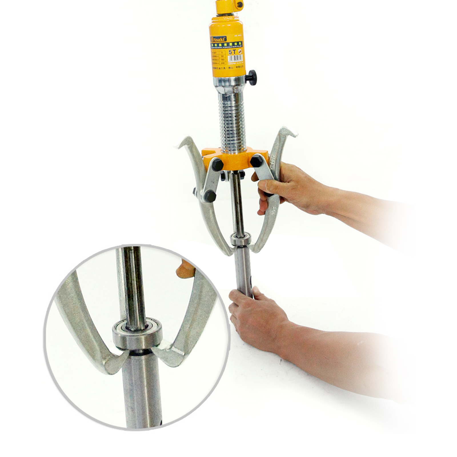5//15T Hydraulic Bearing Gear Puller Wheel 300mm Max Spread 2//3 Jaw Tool Set
