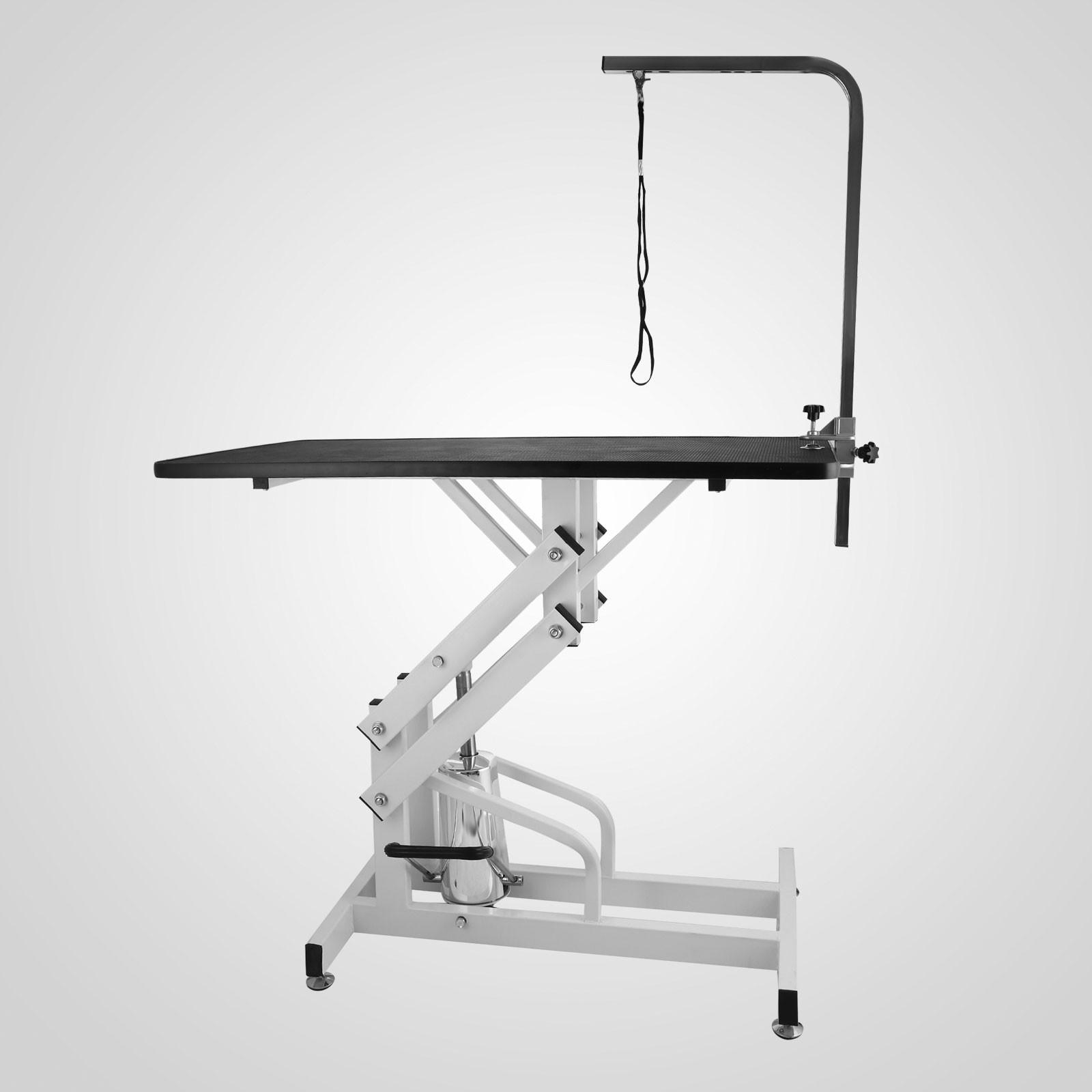 Wood Hydraulic Arm : Z lift hydraulic dog cat pet grooming table detachable