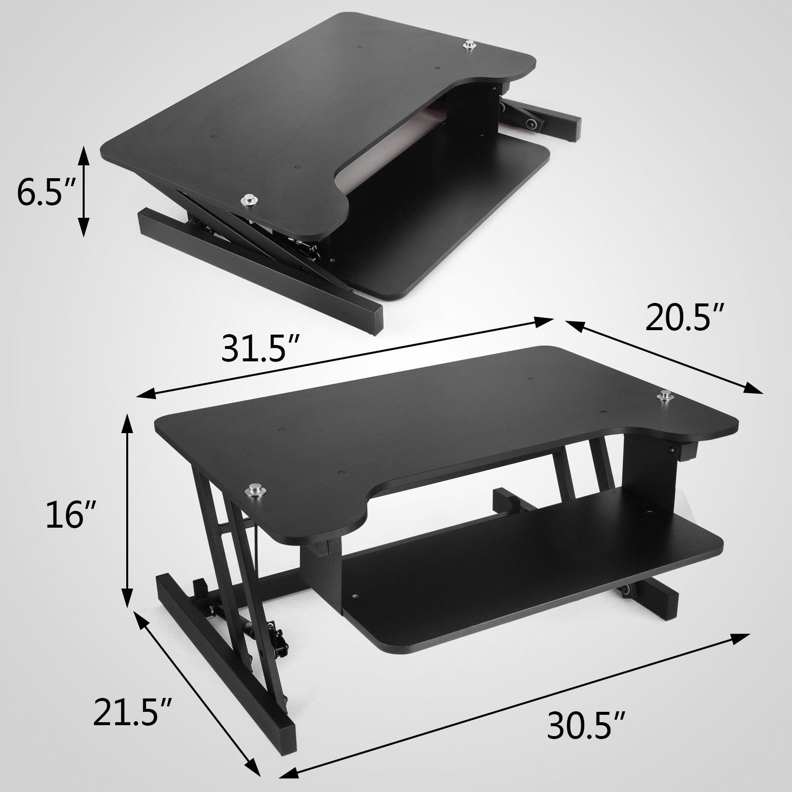 1 Of 12free Ergonomic Adjule Height Stand Up Desk Workstation Riser 31 Wide Newest