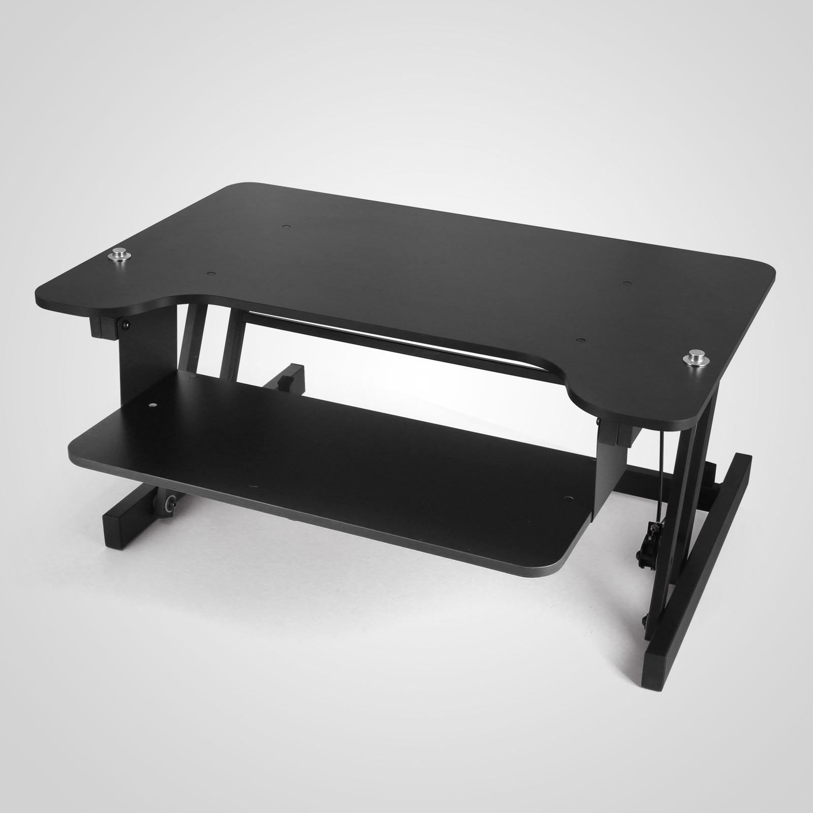 4 Of 12 Ergonomic Adjule Height Stand Up Desk Workstation Riser 31 Wide Newest