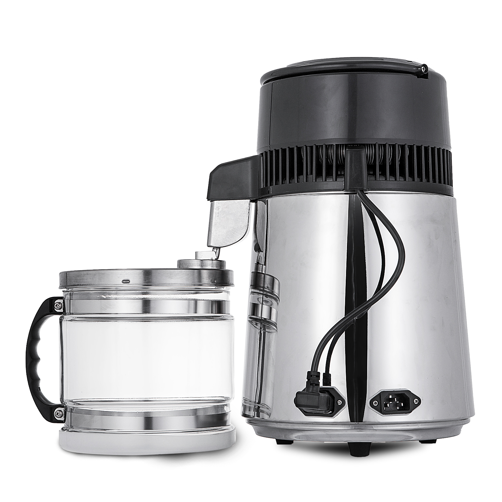 4L Upgraded Pure Water Distiller Filter Distilled All Stainless Steel Internal