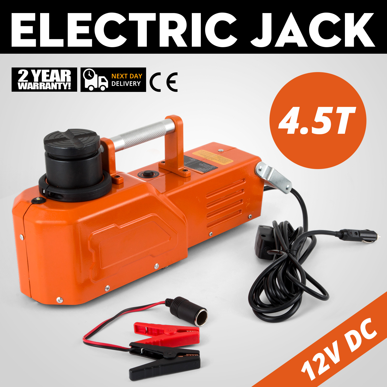 12v Hydraulic Floor Jack Electric Car Lift 9900lbs Wrench