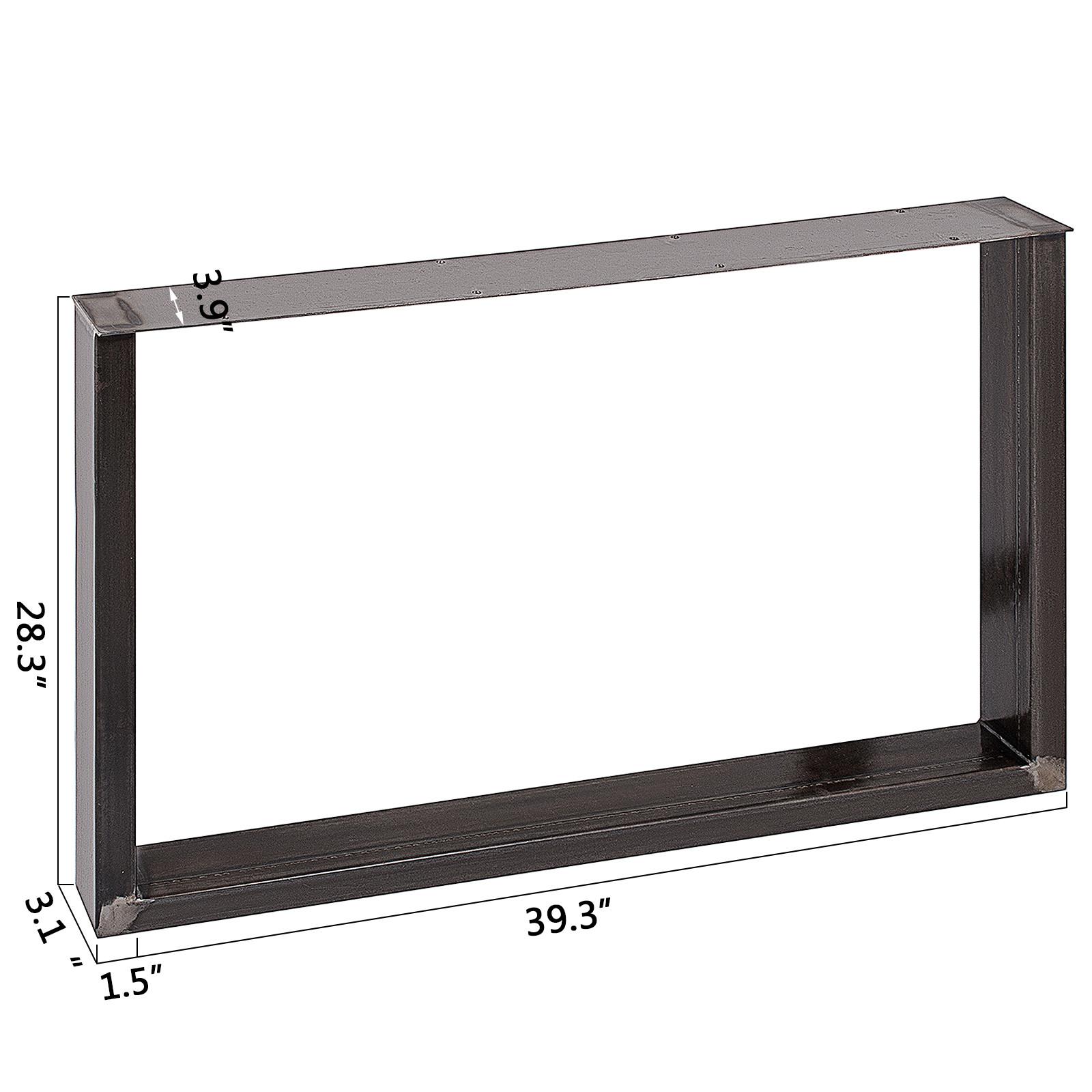 2x-Gambe-per-tavolo-piedi-tavolo-72X-100-CM-Salotto-Cucina-stile-industriale miniatura 2