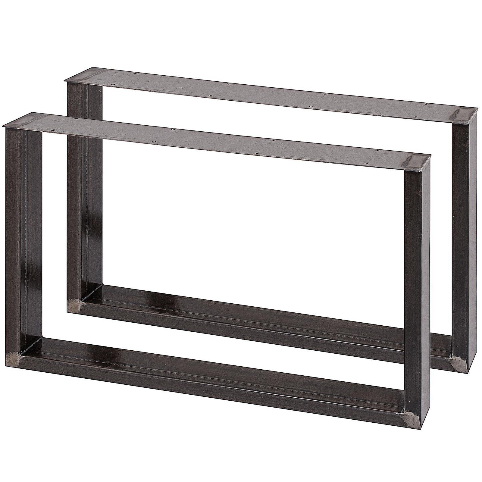 2x-Gambe-per-tavolo-piedi-tavolo-72X-100-CM-Salotto-Cucina-stile-industriale miniatura 3