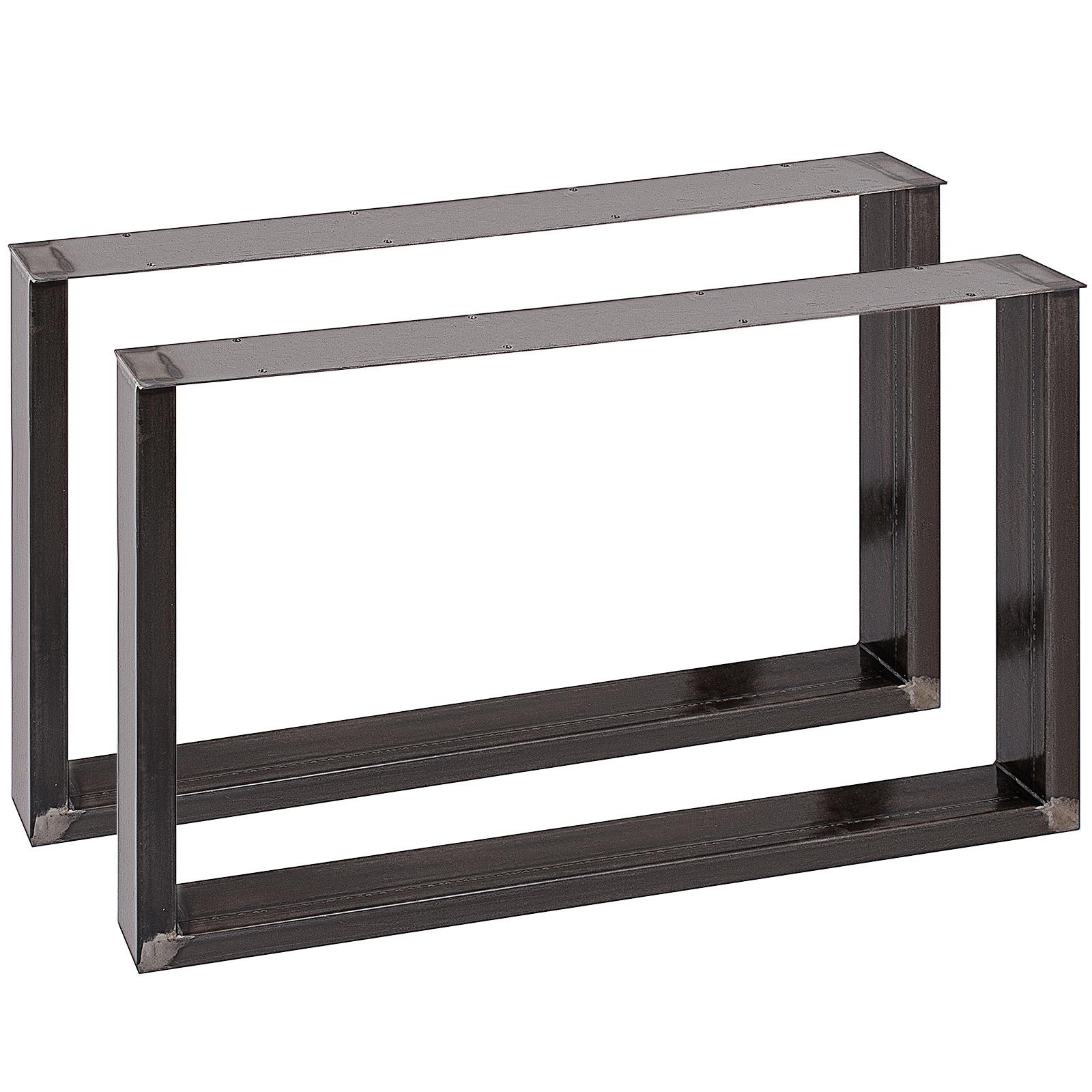 2x-Gambe-per-tavolo-piedi-tavolo-72X-100-CM-Salotto-Cucina-stile-industriale miniatura 4