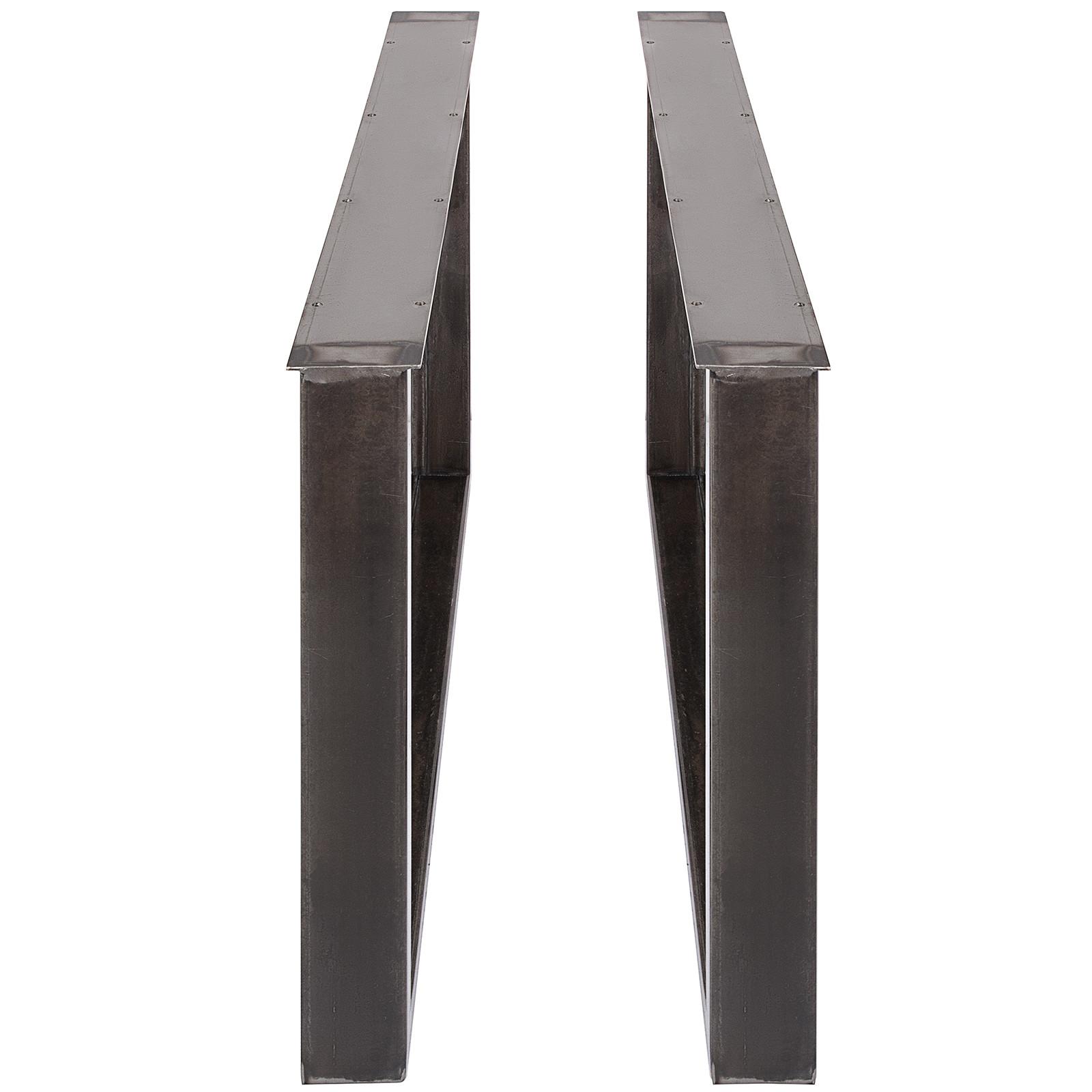 2x-Gambe-per-tavolo-piedi-tavolo-72X-100-CM-Salotto-Cucina-stile-industriale miniatura 5