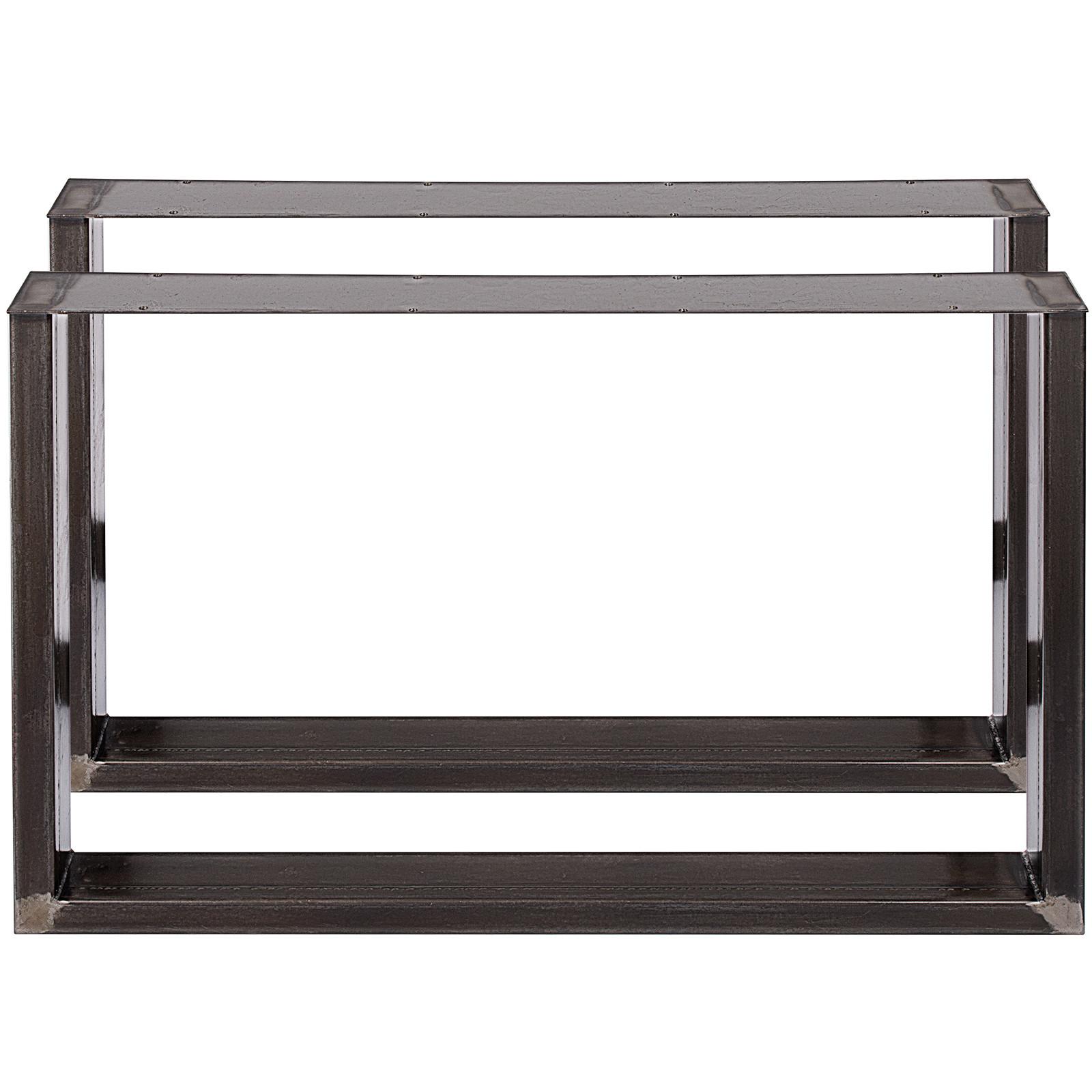 2x-Gambe-per-tavolo-piedi-tavolo-72X-100-CM-Salotto-Cucina-stile-industriale miniatura 6