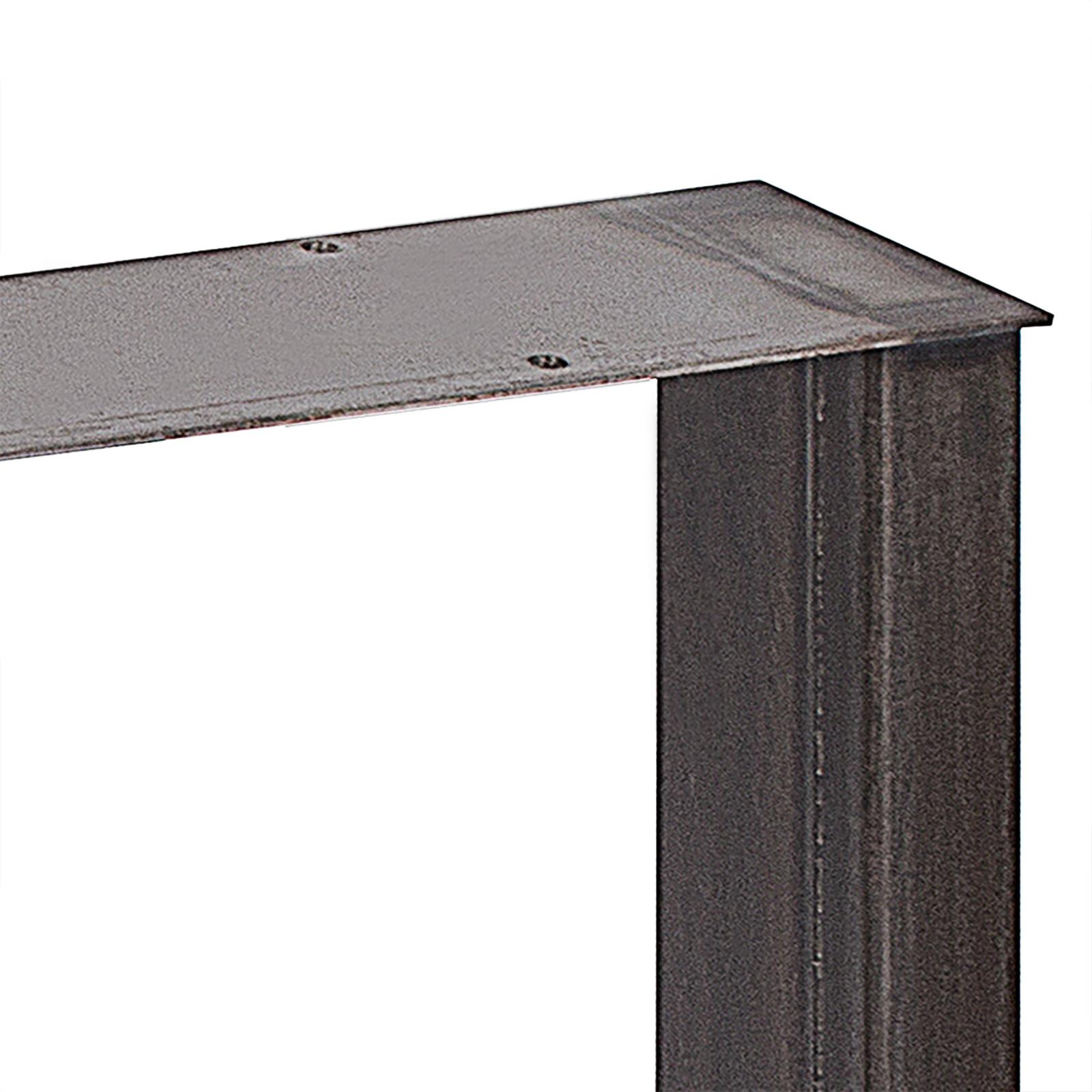 2x-Gambe-per-tavolo-piedi-tavolo-72X-100-CM-Salotto-Cucina-stile-industriale miniatura 7