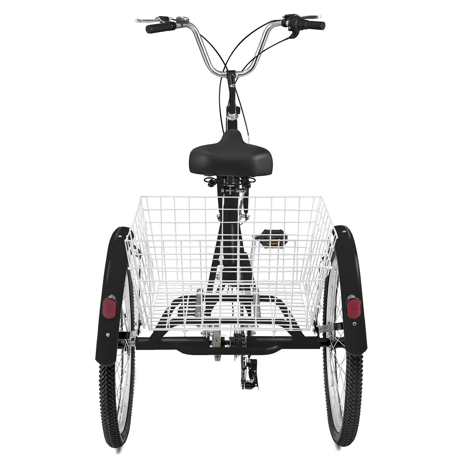 "20//24//26/"" Adult Tricycle 1//7 Speed 3-Wheel Large Basket W// Installation Tools"