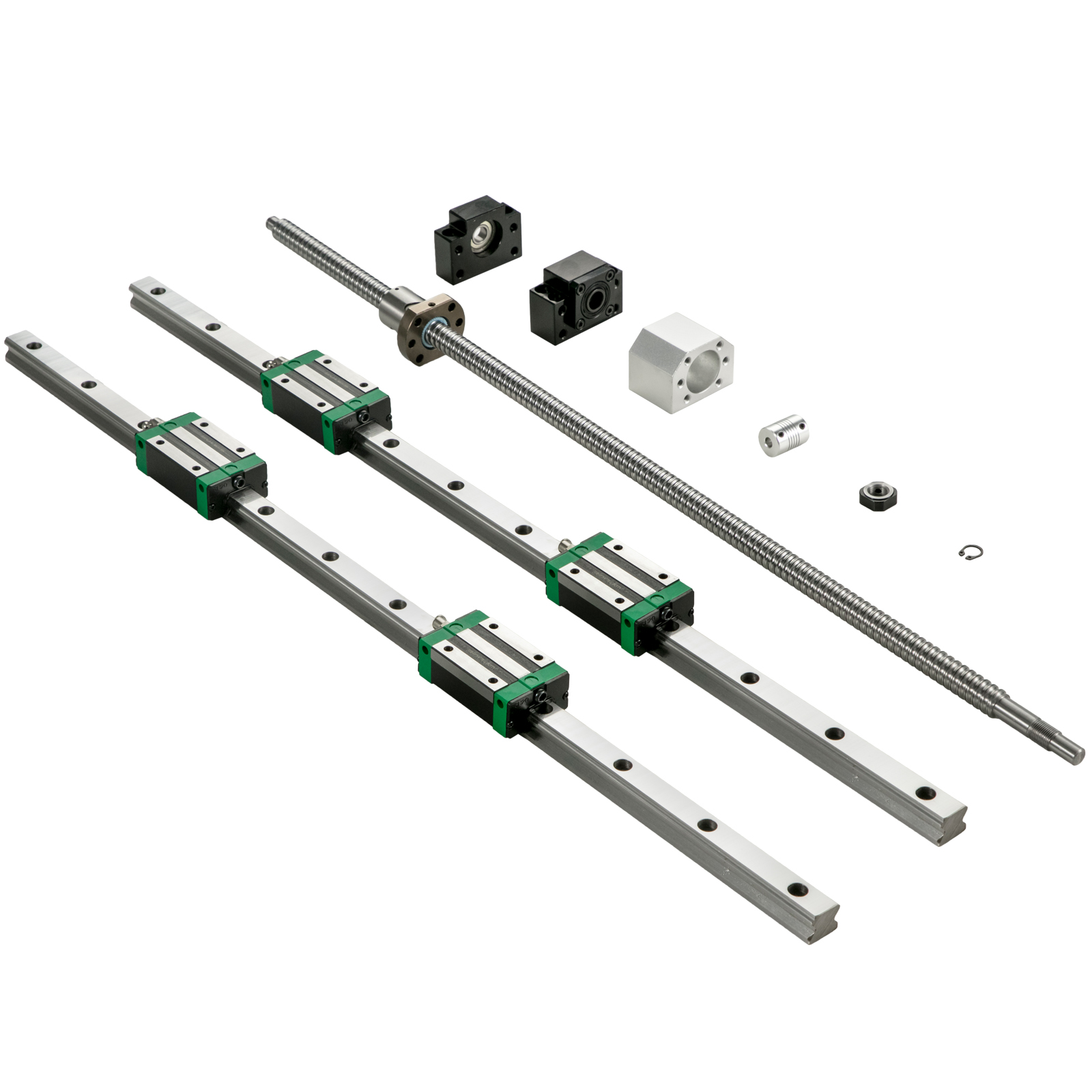 Guida-Lineare-CNC-HGR20-200mm-2-Pezzi-Blocco-di-Cuscinetti-4-Pezzi miniatura 10