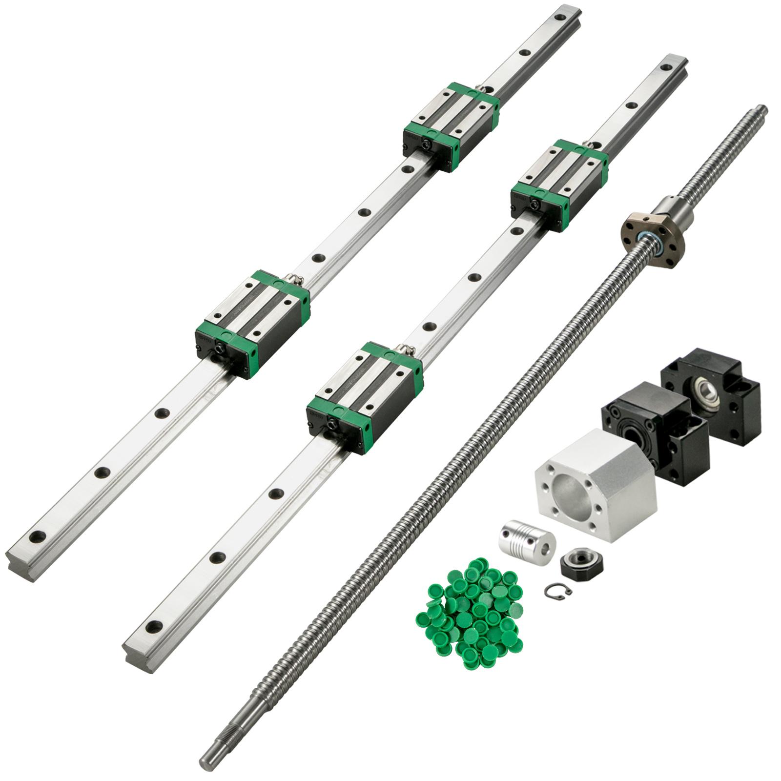 Guida-Lineare-CNC-HGR20-200mm-2-Pezzi-Blocco-di-Cuscinetti-4-Pezzi miniatura 12