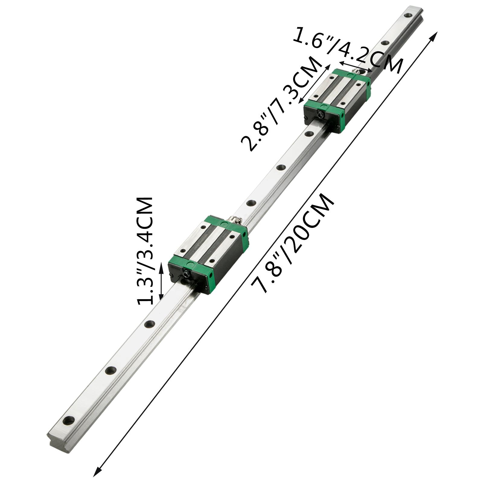 Guida-Lineare-CNC-HGR20-200mm-2-Pezzi-Blocco-di-Cuscinetti-4-Pezzi miniatura 8