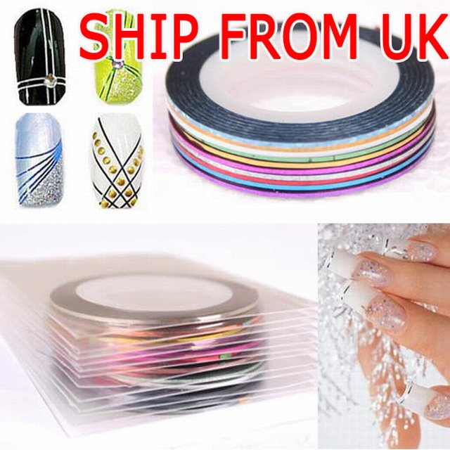 10PCS-12PCS-COLOR-STRIPING-TAPE-TIP-LINE-NAIL-ART-DECORATION-STICKER-ROLLS-g6
