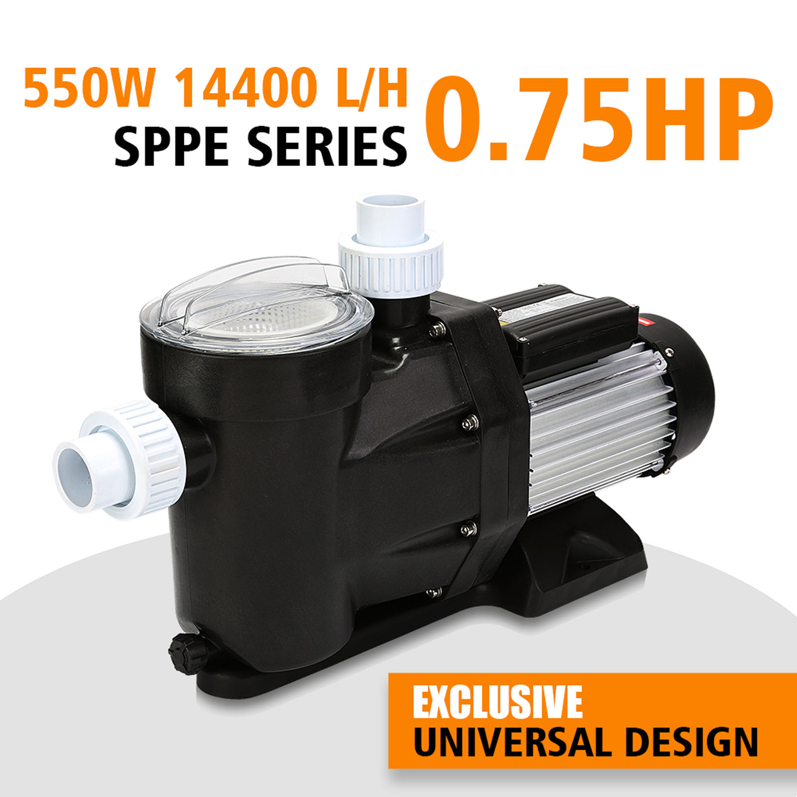 0 75hp Swimming Pool Pump Above In Ground 550w Motor