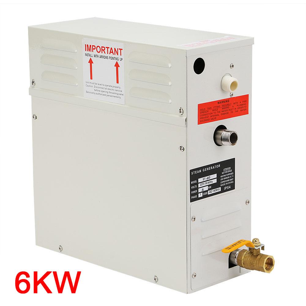Professional 6kw steam generator home spa shower sauna for Bathroom design generator