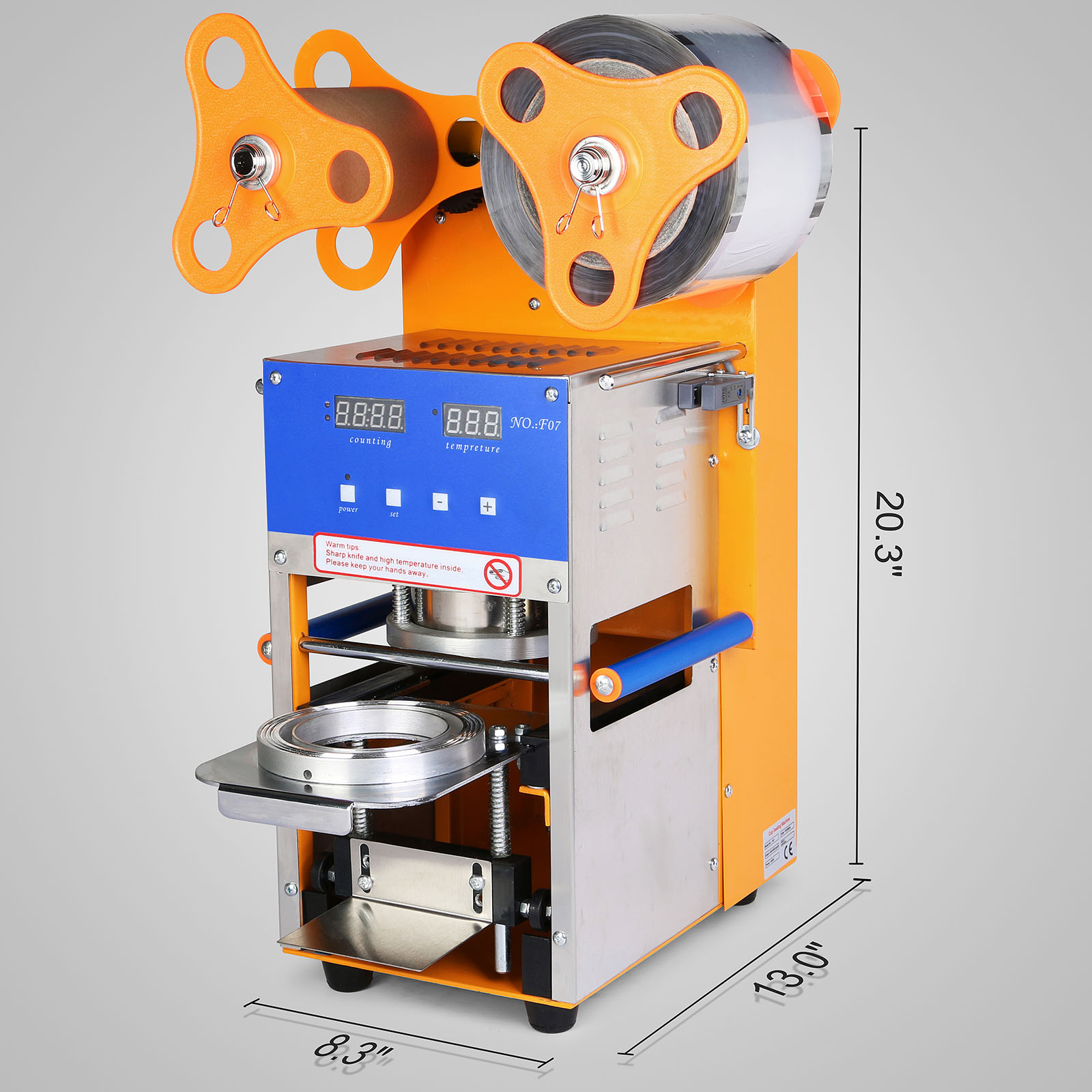 Cup Sealer Auto Sealing Machine Packaging With Sensitive