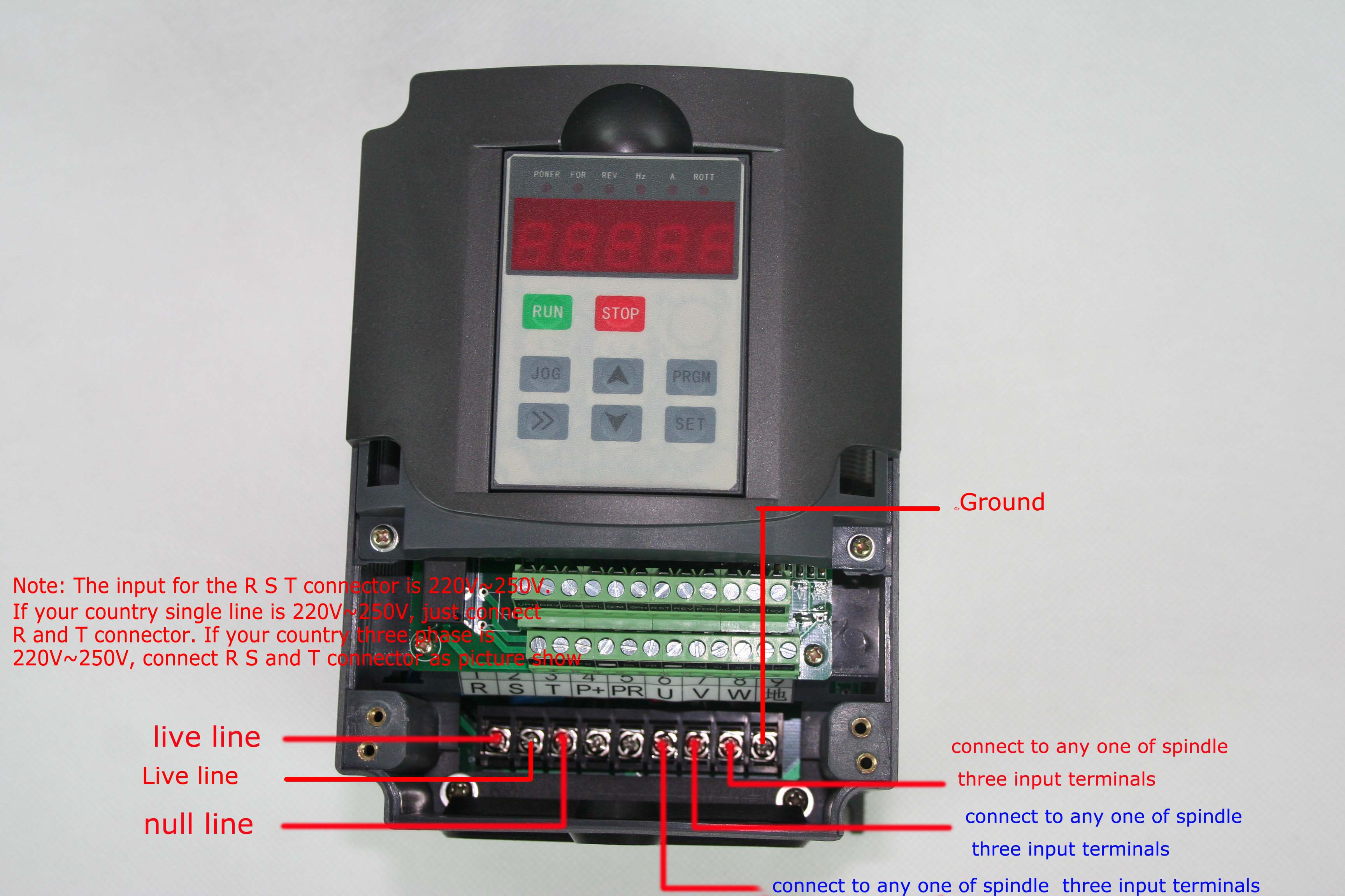 Spindle Wiring Diagram Library Chinese Motor Huanyang Vfd Settings And Manual Here Archive Cnczonecom