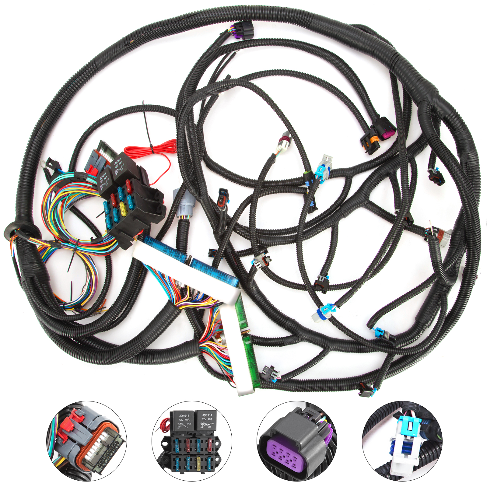 Details about HQ Wire Harness 2003 to 2007 LS1/LSX Vortec Standalone on safety harness, oxygen sensor extension harness, maxi-seal harness, radio harness, battery harness, suspension harness, obd0 to obd1 conversion harness, alpine stereo harness, pony harness, dog harness, engine harness, pet harness, amp bypass harness, cable harness, nakamichi harness, electrical harness, fall protection harness,