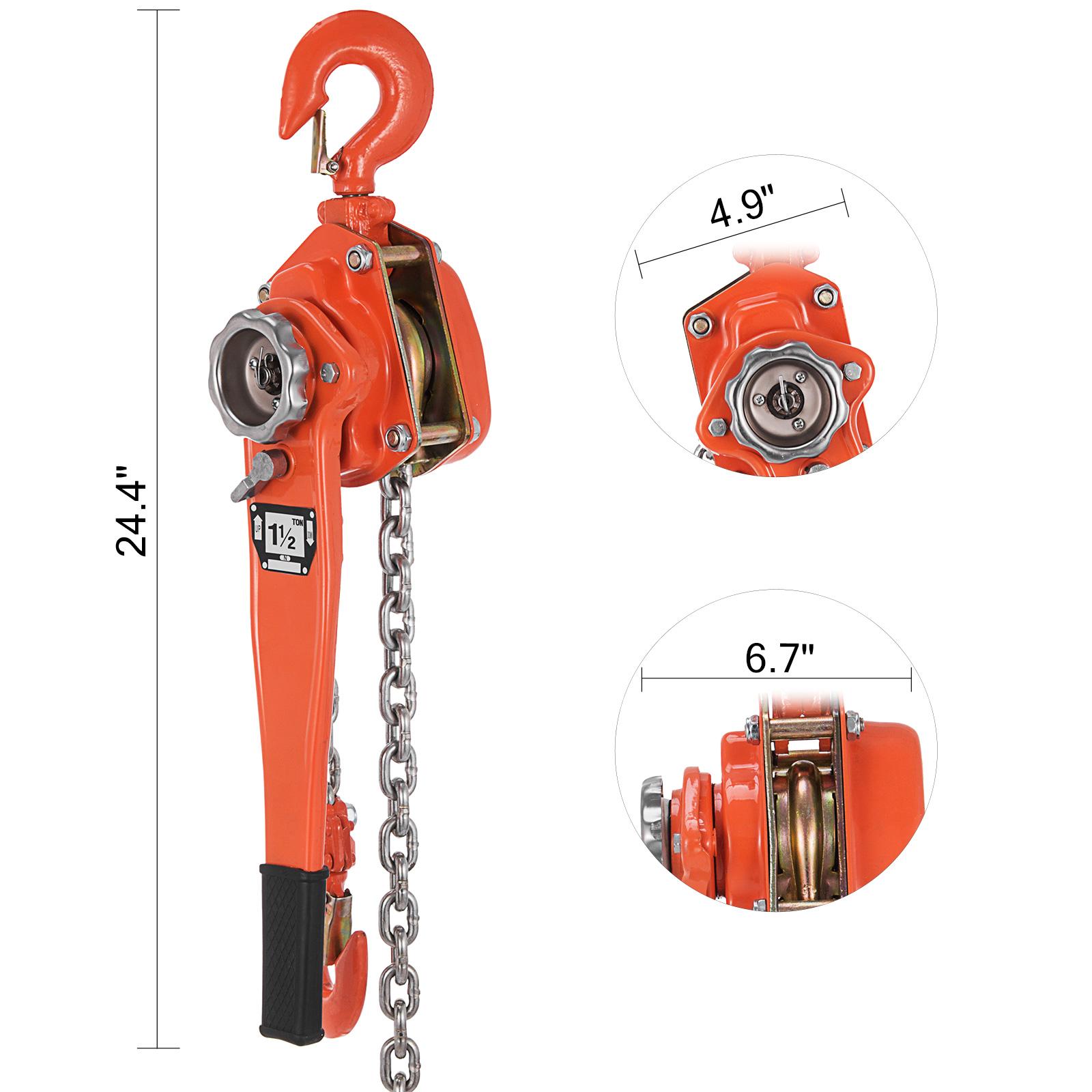 1-5T-Lever-Block-Chain-Hoist-1-5M-6M-Lift-Pull-Machinery-Gear-FACTORY-DISCOUNT thumbnail 38