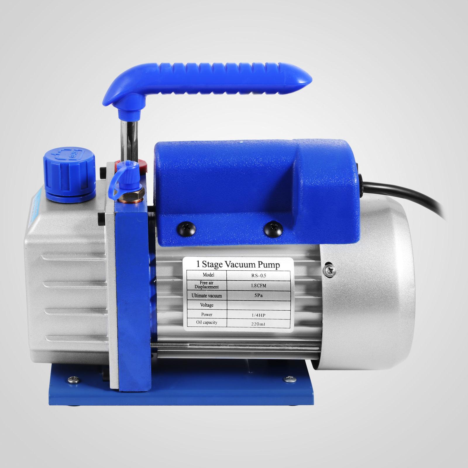 thumbnail 52 - 1-8CFM-3CFM-6CFM-9CFM-Refrigeration-Vacuum-Pump-1-Stage-HVAC-Air-Conditioning