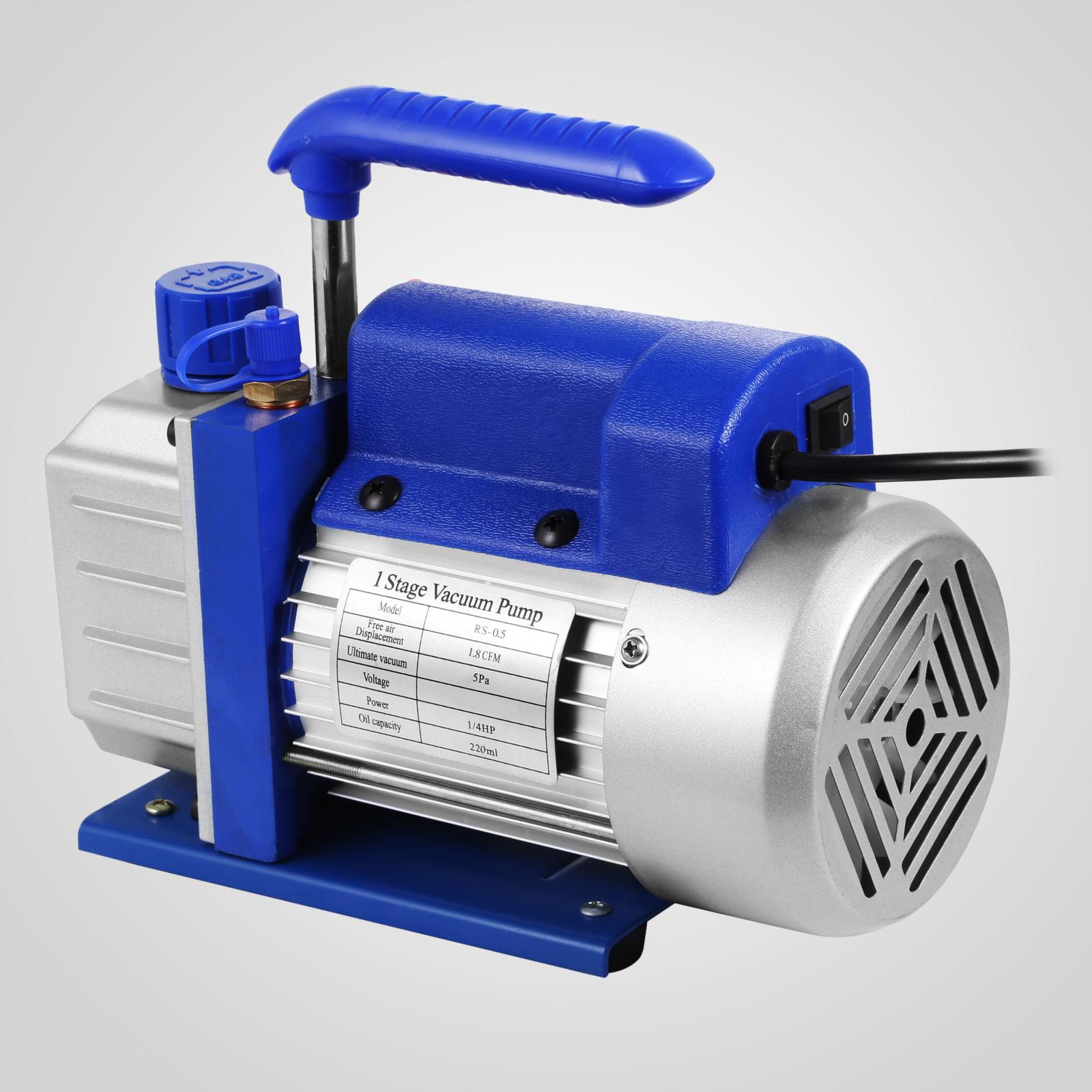 thumbnail 53 - 1-8CFM-3CFM-6CFM-9CFM-Refrigeration-Vacuum-Pump-1-Stage-HVAC-Air-Conditioning