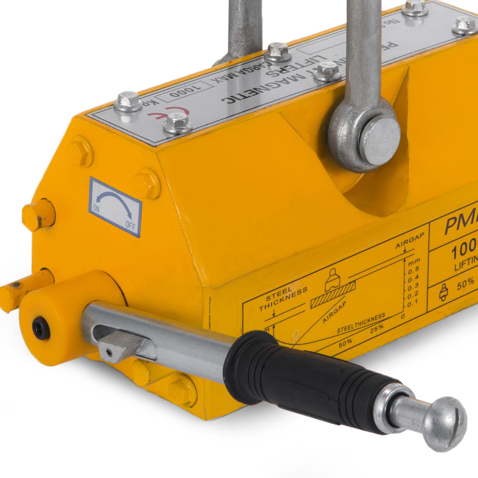 100-300-600-1000KG-Steel-Magnetic-Lifter-Heavy-Duty-Crane-Hoist-Lifting-Magnet miniature 71